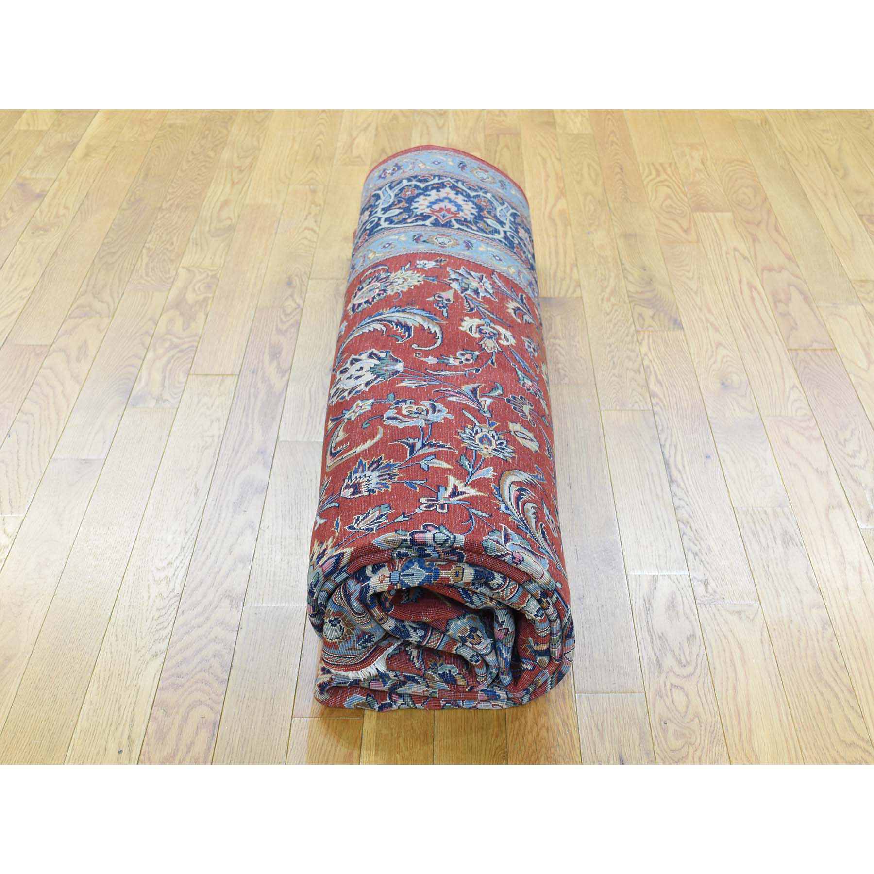 7-10 x11- Hand-Knotted Antique Persian Kashan Full Pile Oriental Rug