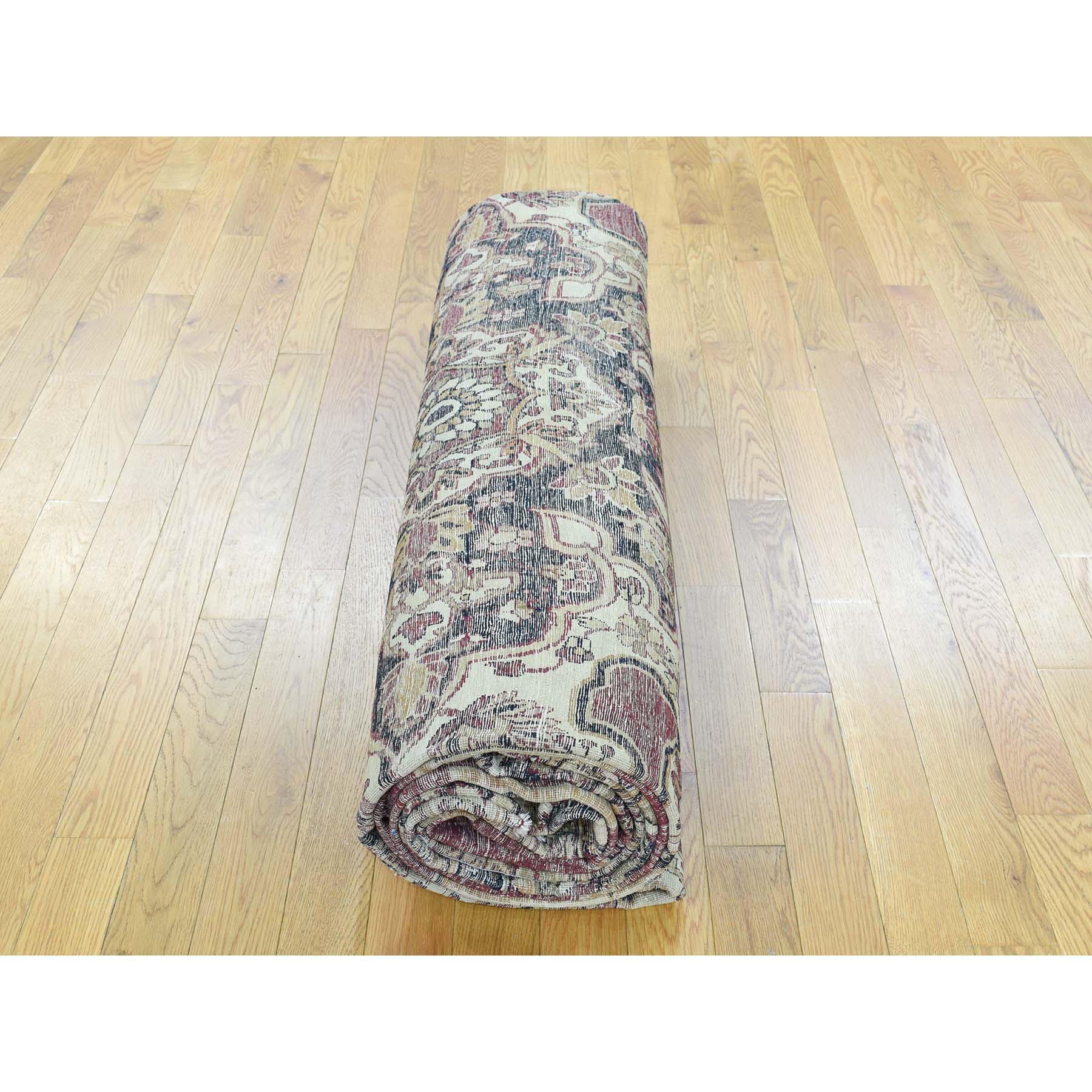 11-9 x15-7  Antique Persian Lavar Kerman Good Cond Oversize Oriental Rug