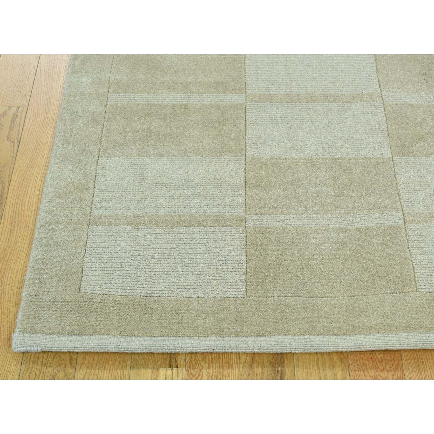 5-x8-2  Hand-Knotted Pure Wool Modern Nepali Cut And Loop Oriental Rug