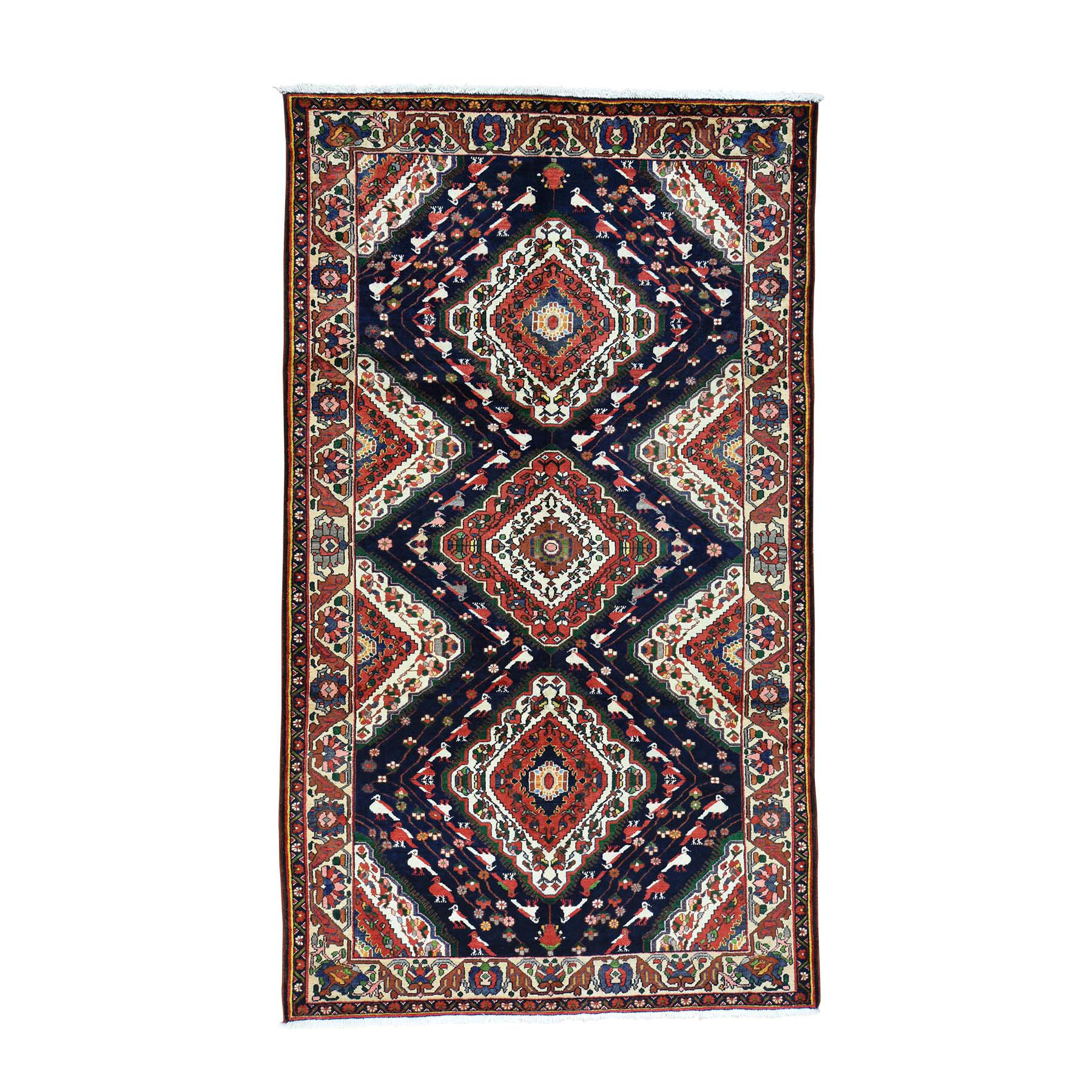 """5'9""""X9'10"""" Hand-Knotted Persian Bakhtiari Exc Cond Oriental Rug moacbb80"""