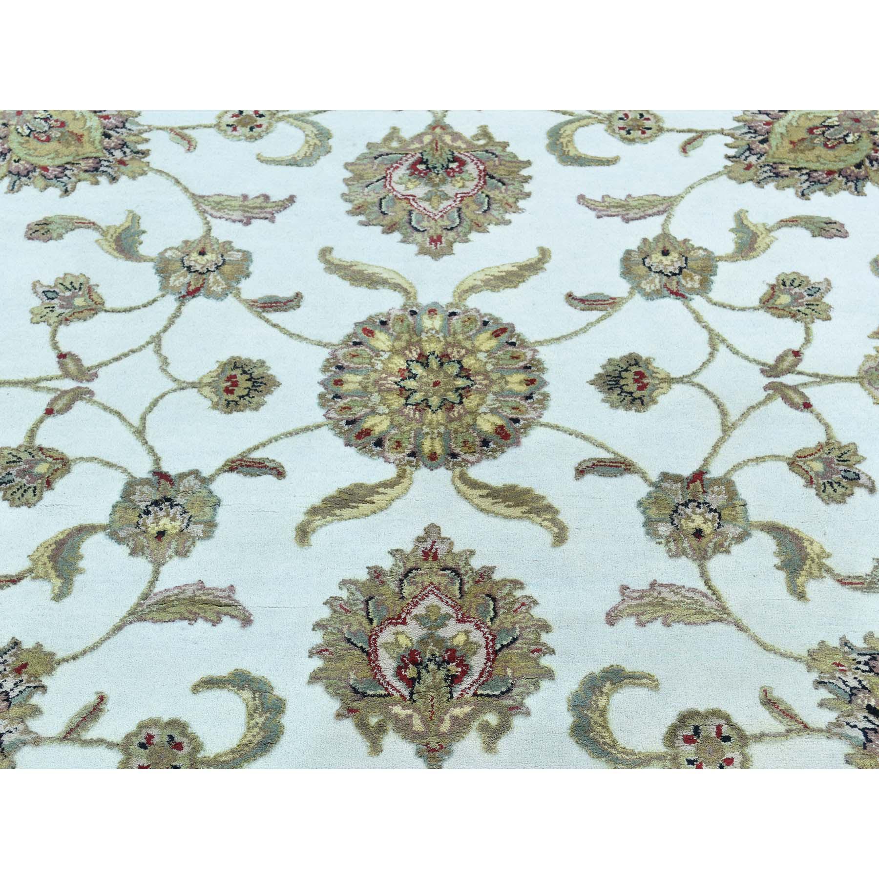 8-x8- Hand-Knotted Round Rajasthan Half Wool And Half Silk Oriental Rug