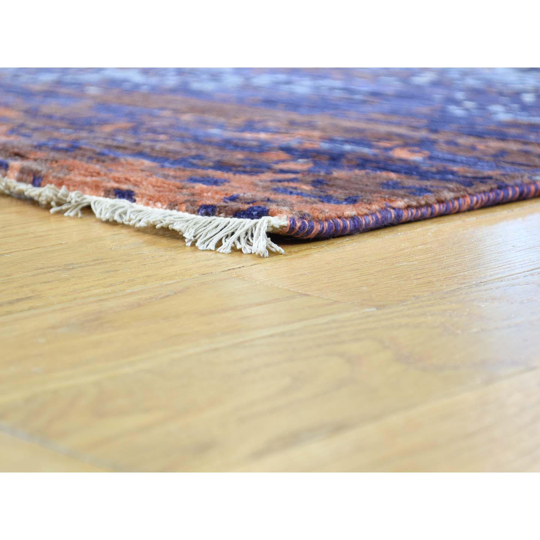 "8'10""x11'10"" Wool and Silk Modern Broken Design Hand-Knotted Rug"