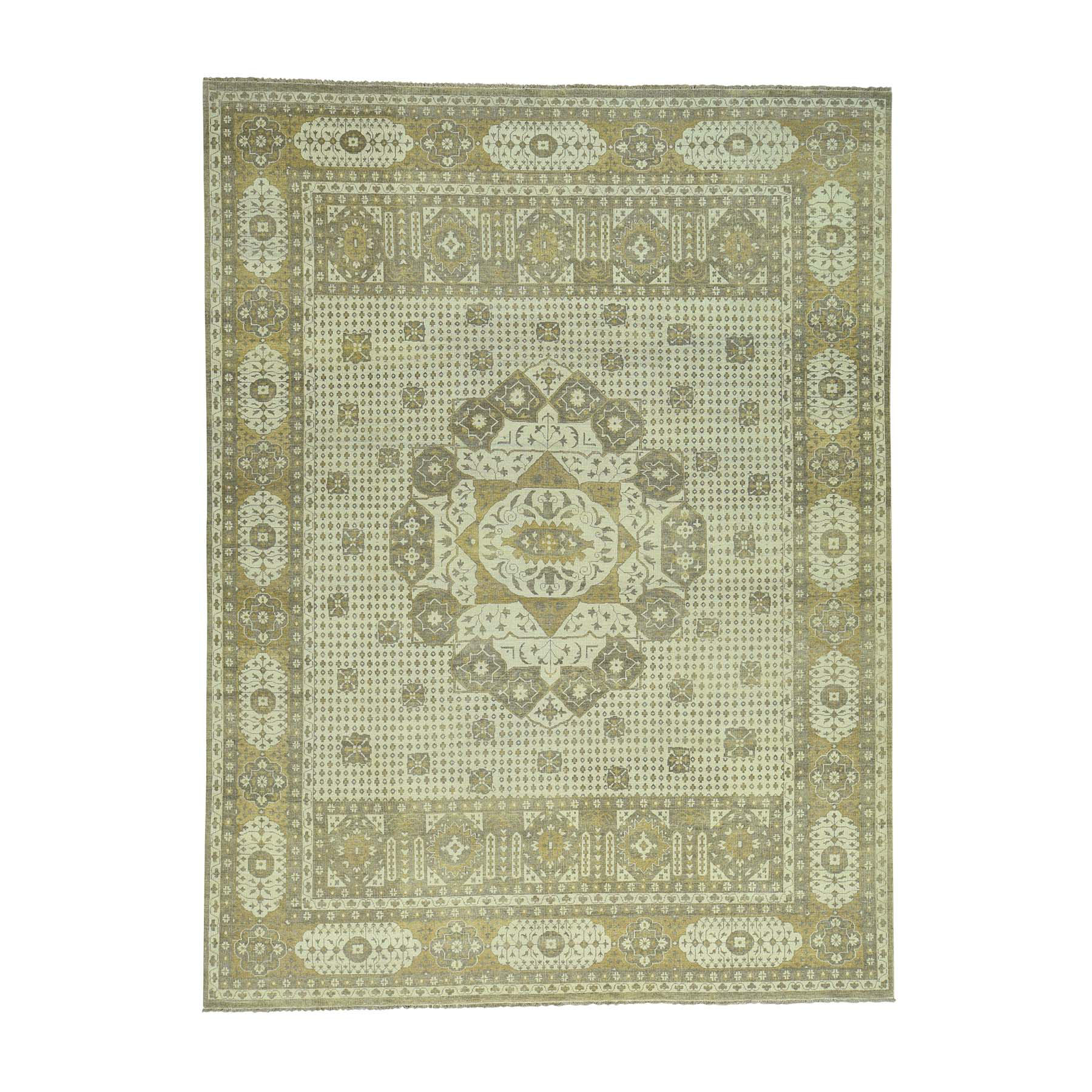 "9'X11'10"" On Clearance Zero Pile Hand-Knotted Egyptian Mamluk Pure Wool Oriental Rug moacbddd"
