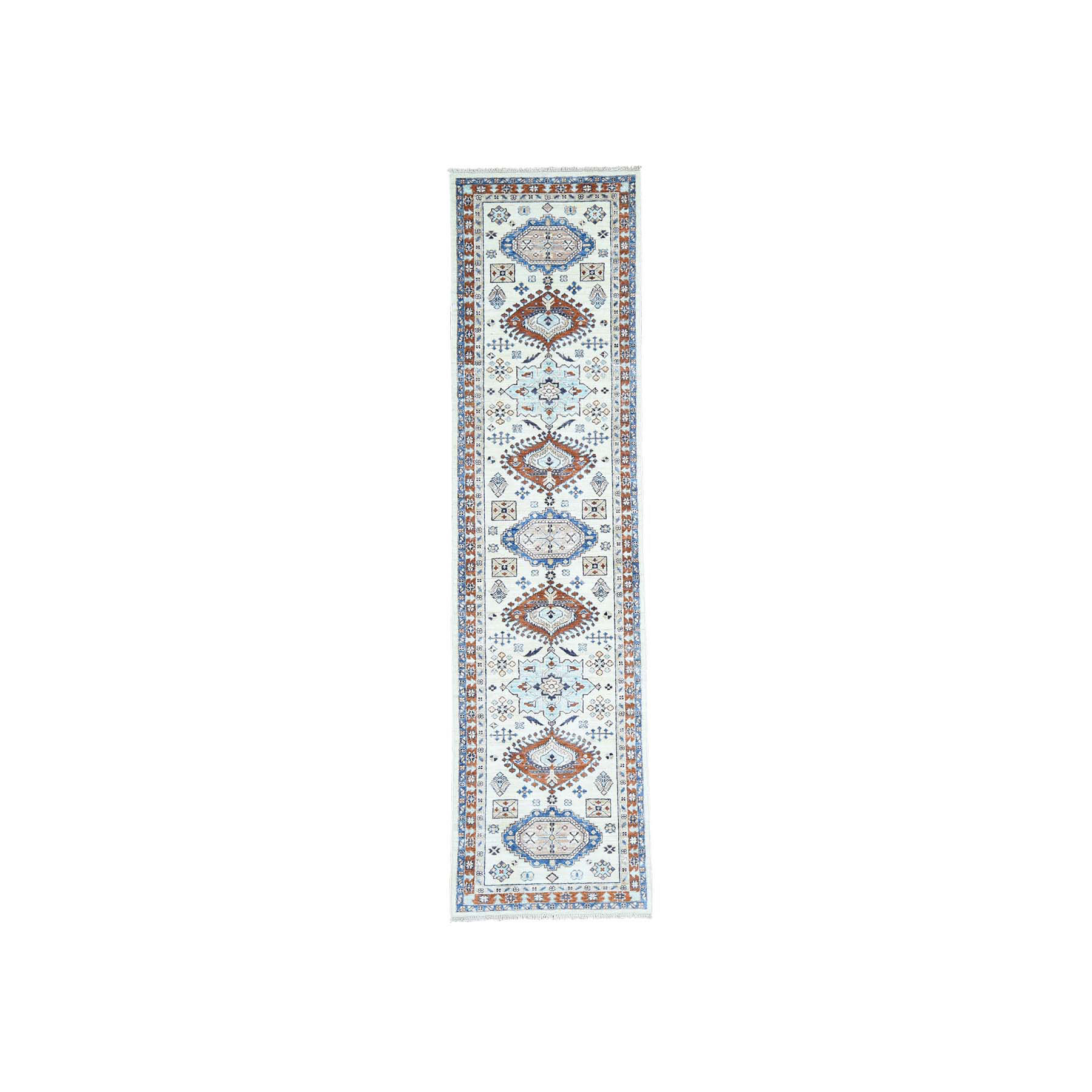 "2'7""X9'10"" Antiqued Karajeh Pure Wool Hand-Knotted Oriental Runner Rug moacb897"