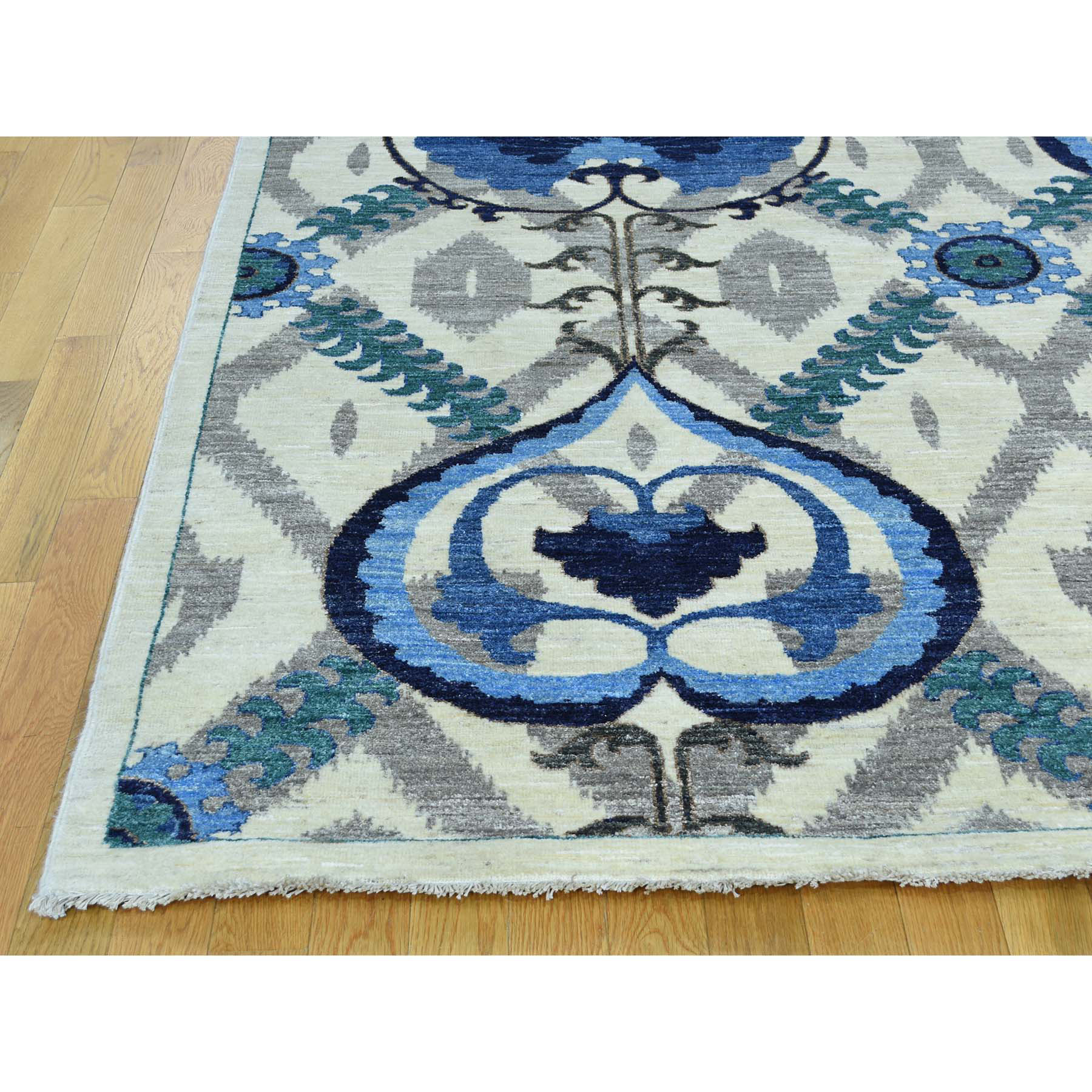 10-x13-9  Hand-Knotted Arts And Crafts Design Pure Wool Oriental Rug
