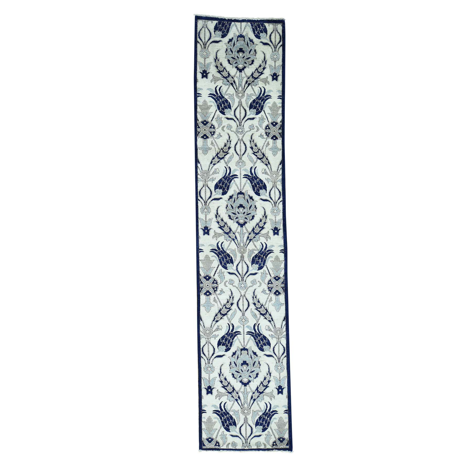 """2'7""""X12'1"""" Hand-Knotted Arts And Crafts William Morris Design Runner Rug moacc0ec"""