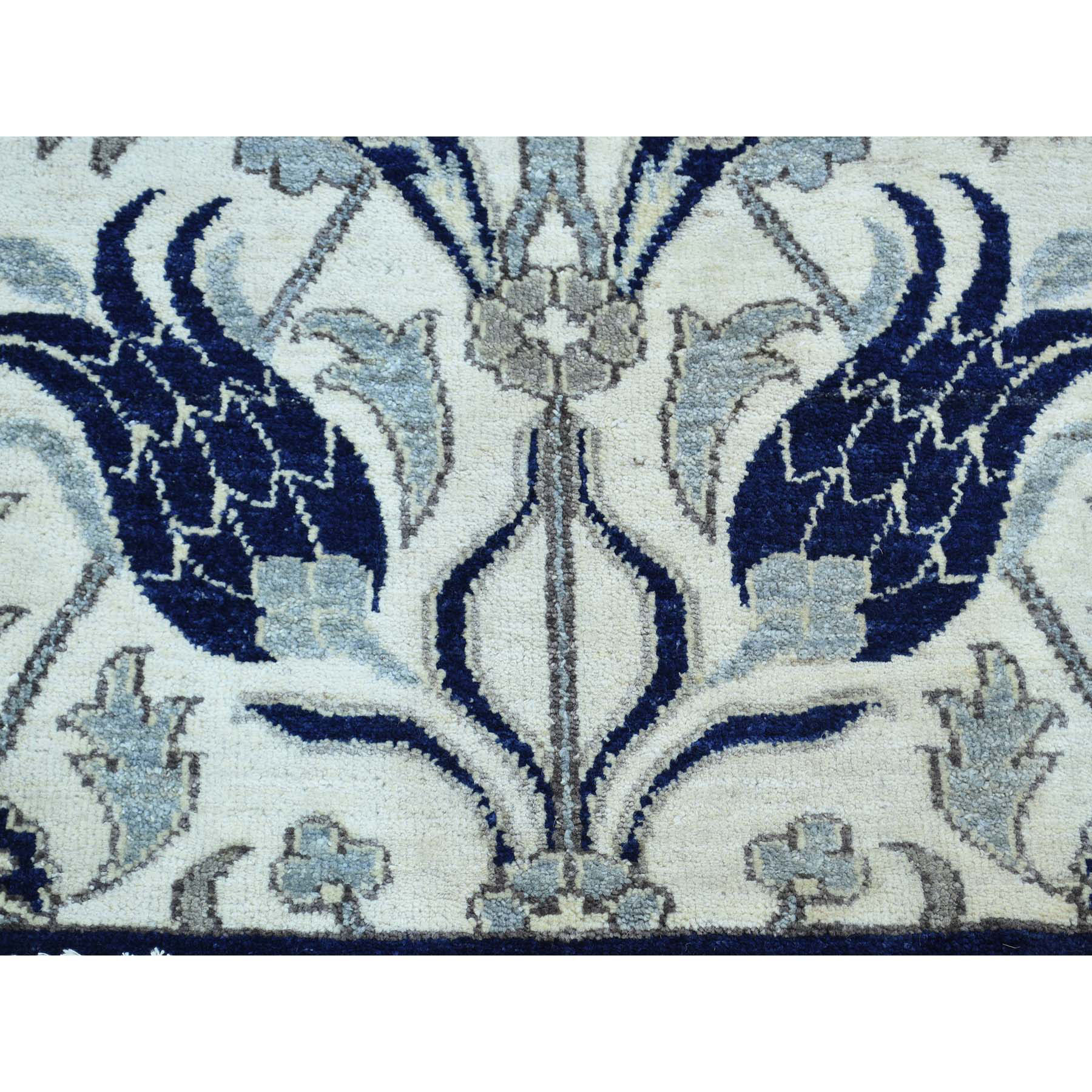"2'7""x12'1"" On Clearance Hand-Knotted Arts And Crafts William Morris Design Runner Rug"