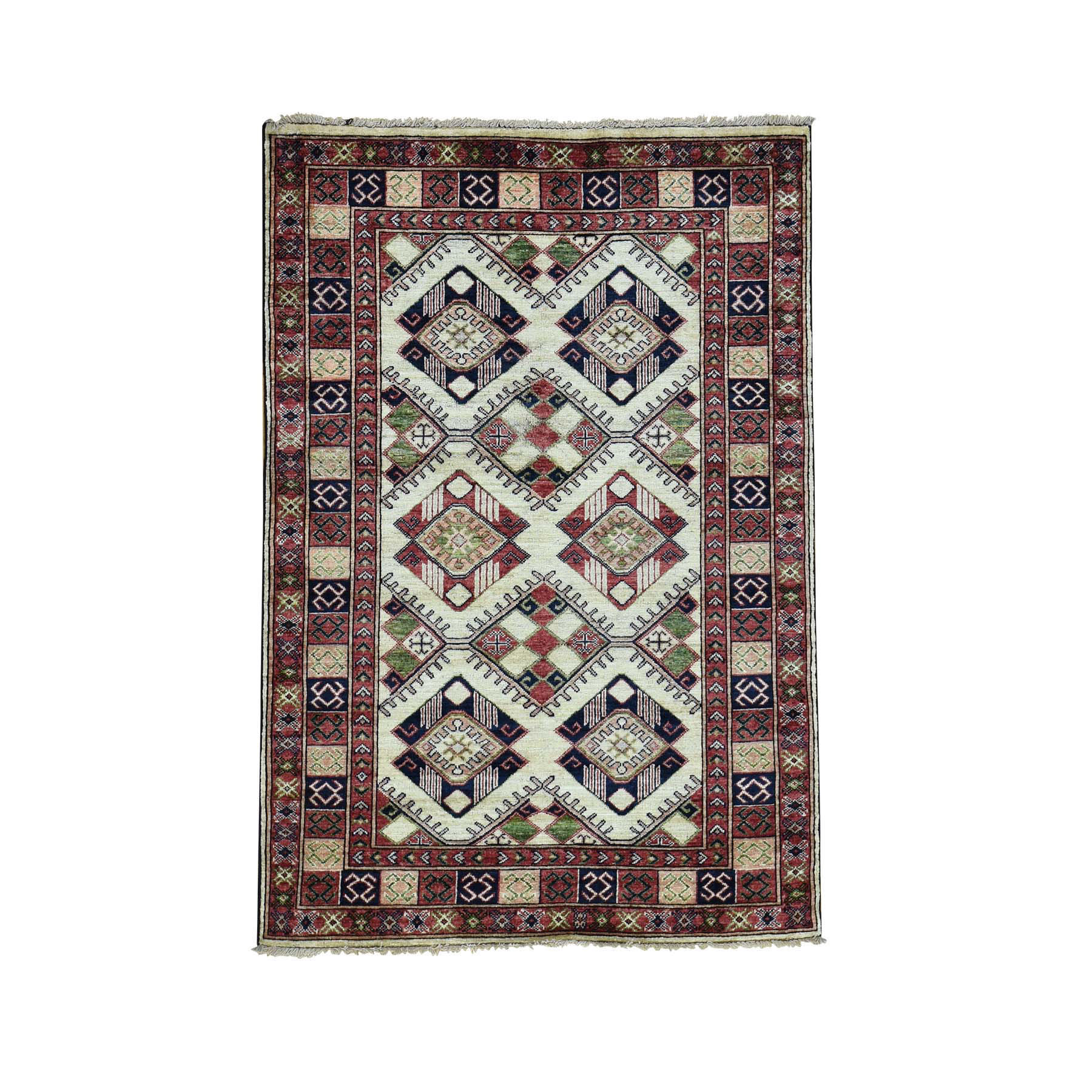 "4'1""X6' On Clearance Hand-Knotted Turkoman Ersari 100 Percent Wool Oriental Rug moaccb06"
