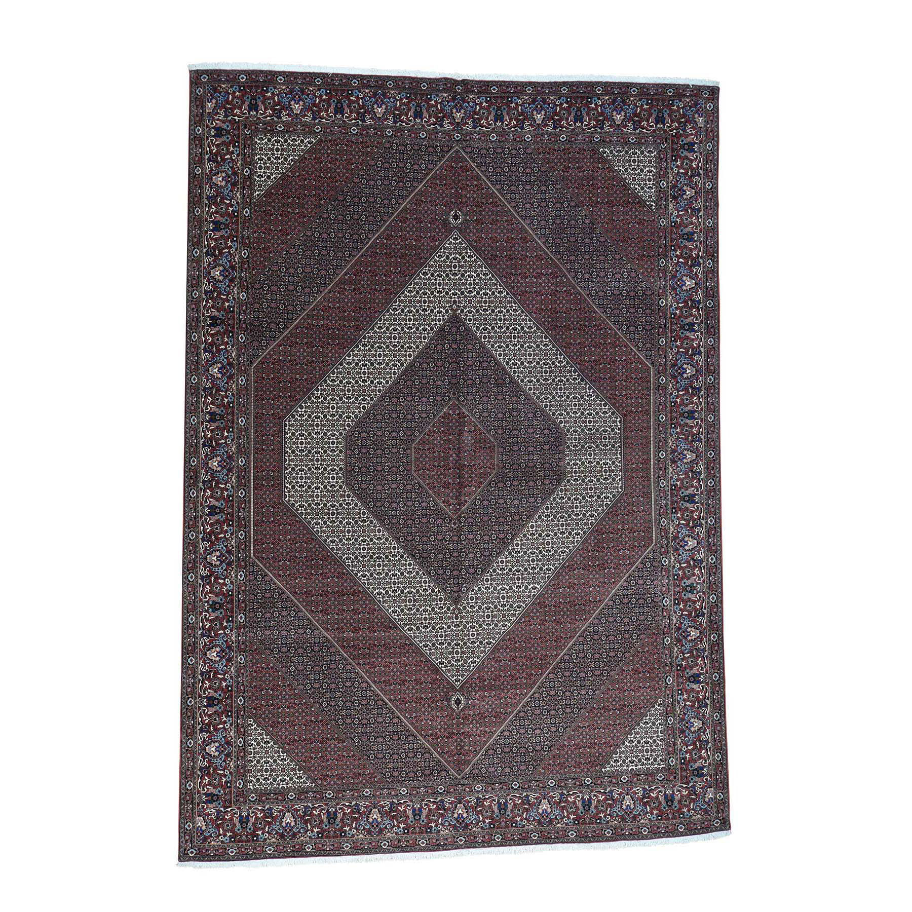 "11'5""X15'10"" Handmade Oversize Persian Bijar 400 Kpsi Wool And Silk Rug moaccece"