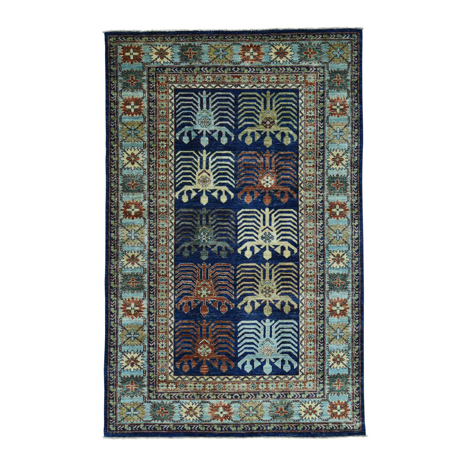 "5'2""X8'2"" On Clearance Hand-Knotted Turkoman Ersari 100 Percent Wool Oriental Carpet moaccedb"