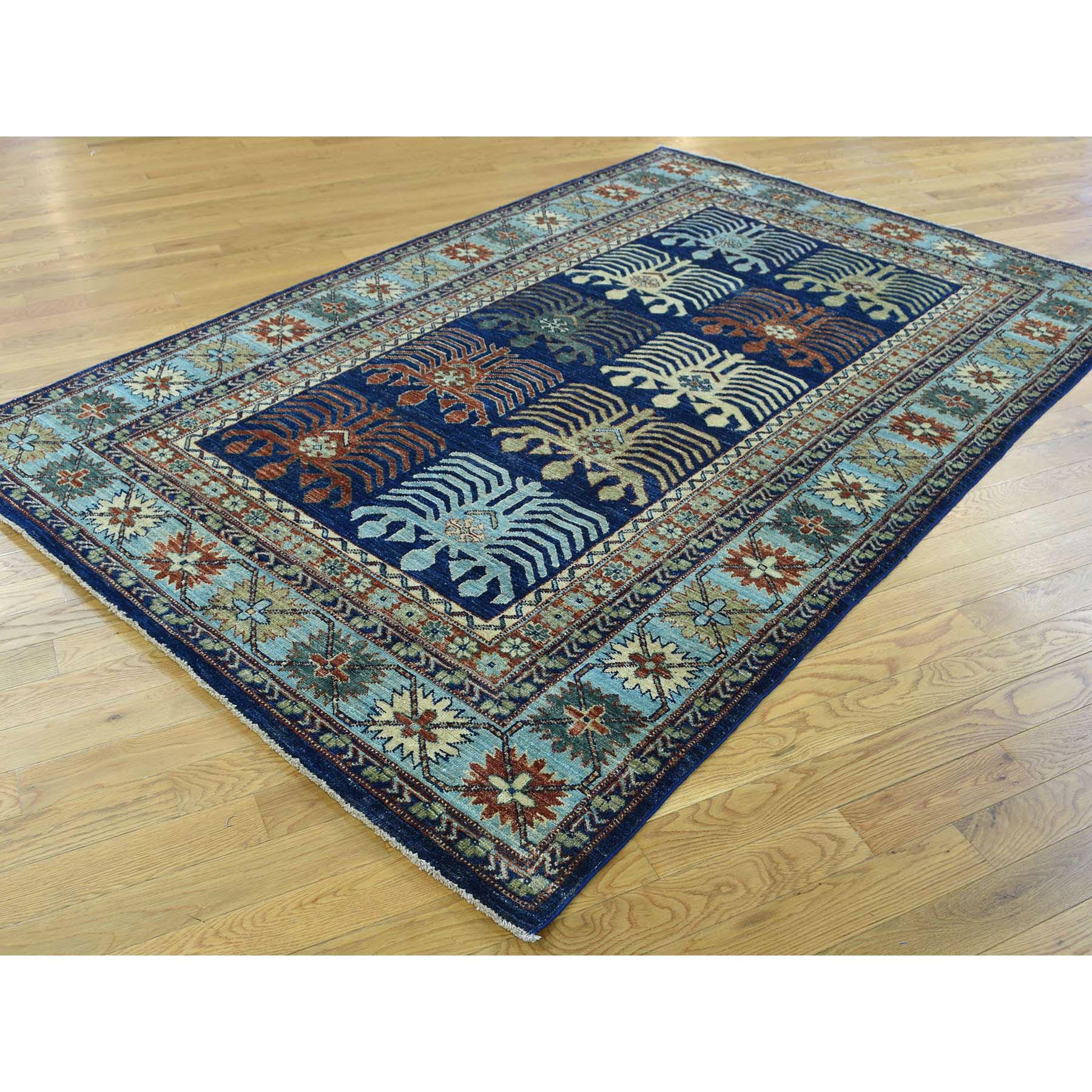 5-2 x8-2  Hand-Knotted Turkoman Ersari 100 Percent Wool Oriental Carpet