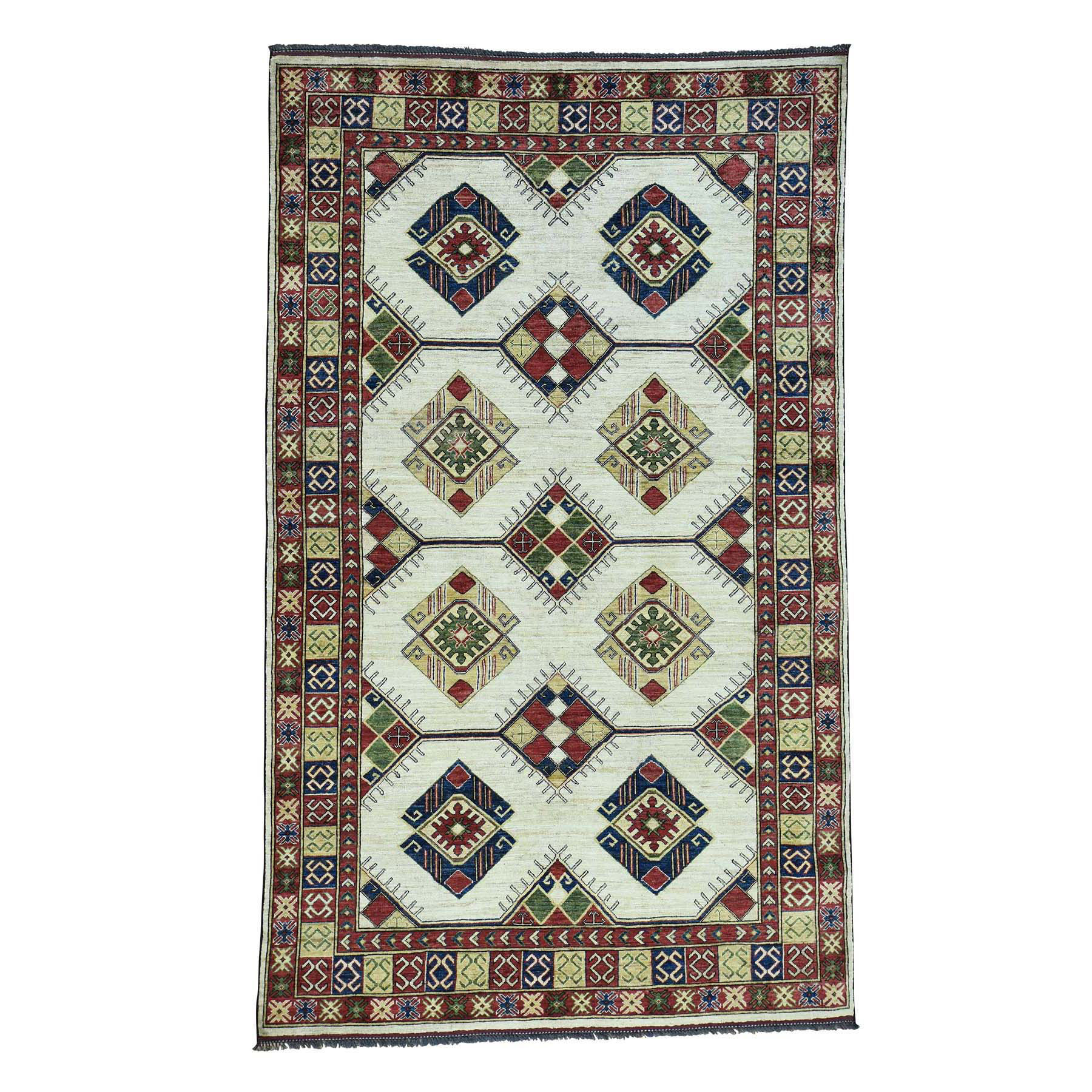 6'X10' 100 Percent Wool Hand-Knotted Turkoman Ersari Oriental Rug moacced7