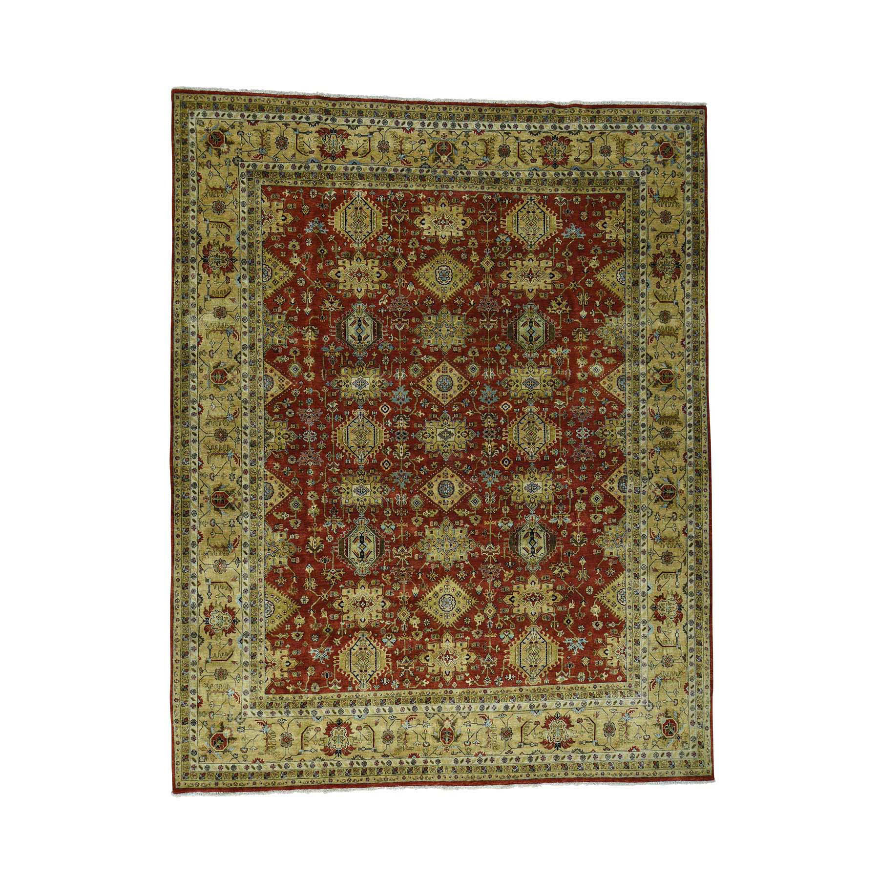 "11'9""X15' Hand-Knotted 100 Percent Wool Karajeh Oversize Oriental Rug moaccee7"