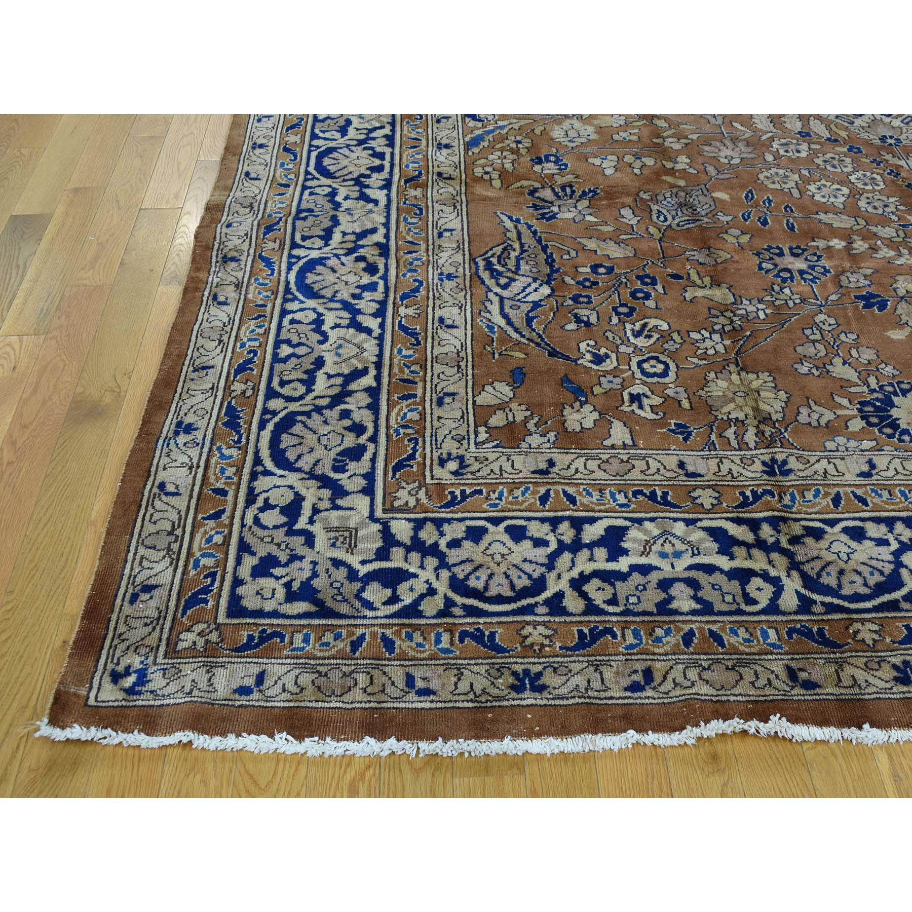 9-9 x13-3  Hand-Knotted Antique Persian Sarouk Exc Cond Oriental Rug