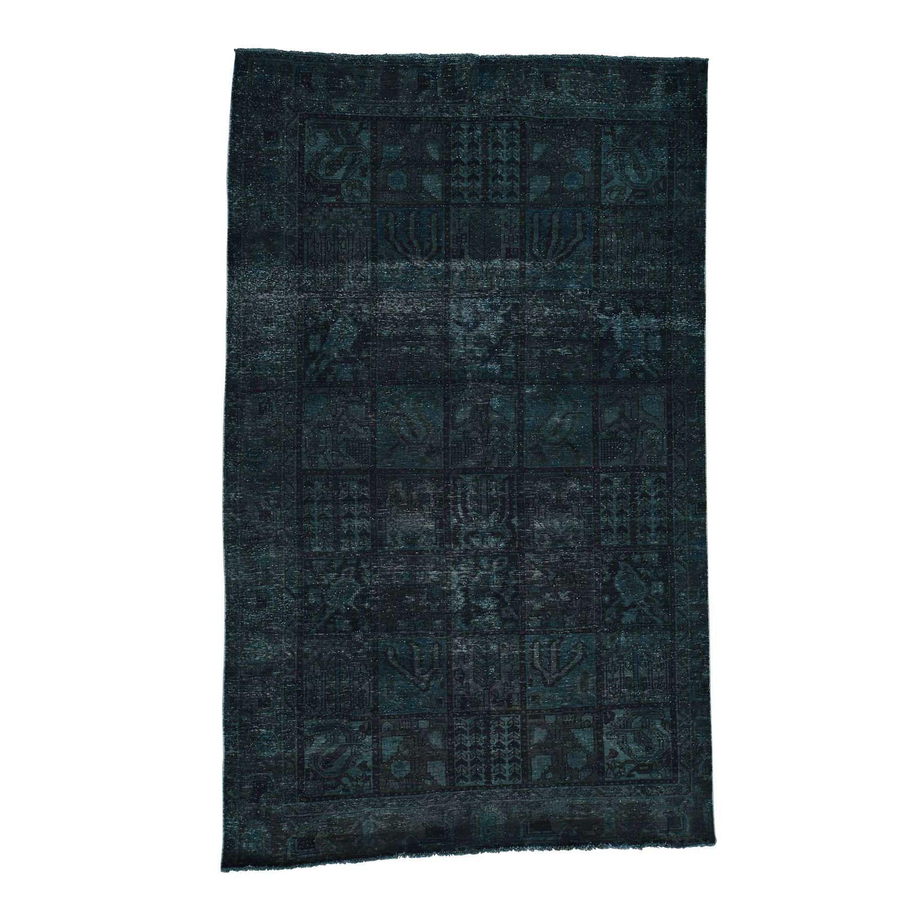 "6'1""X10' Handmade Overdyed Bakhtiari Garden Design Worn Oriental Rug moacc6b8"