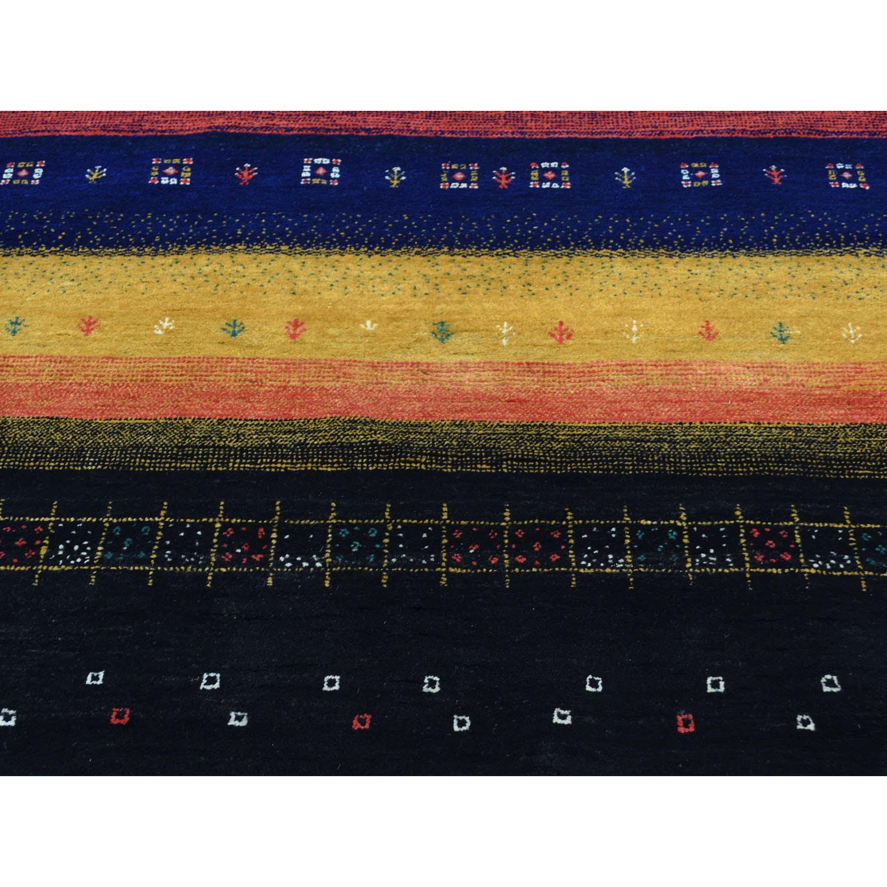 8-1 x9-9  100 Percent Wool Hand-Knotted Folk Art Gabbeh Oriental Rug