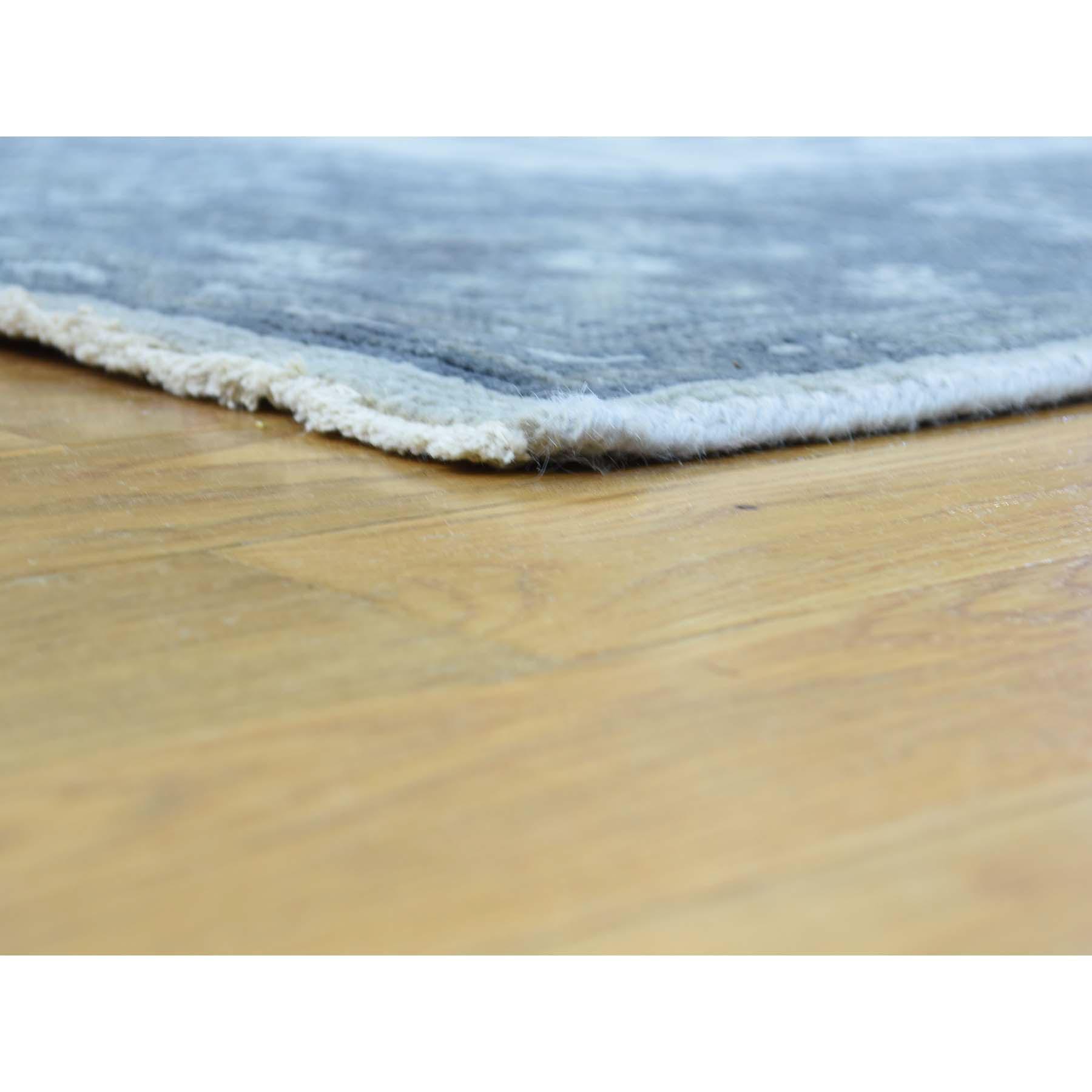 6-x9- Handmade Pure Wool Turkish Knot Oushak Cropped Thin Oriental Rug