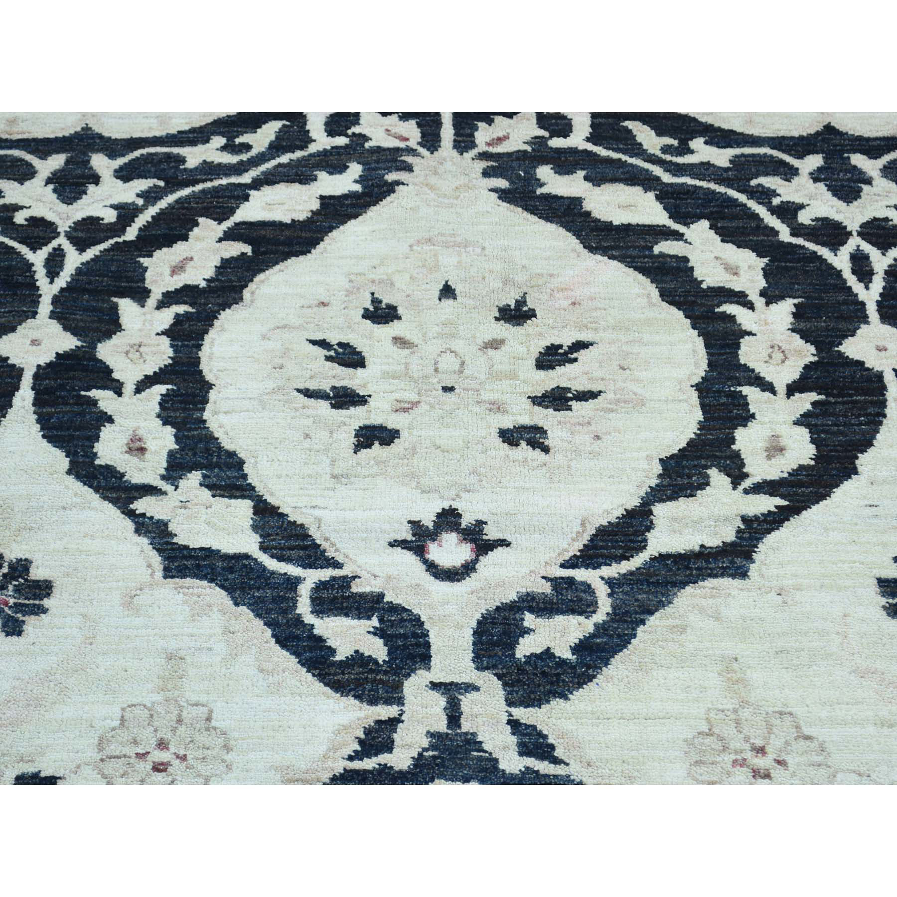 10-x13-8  Hand-Knotted Peshawar With Moughal Design Oriental Rug