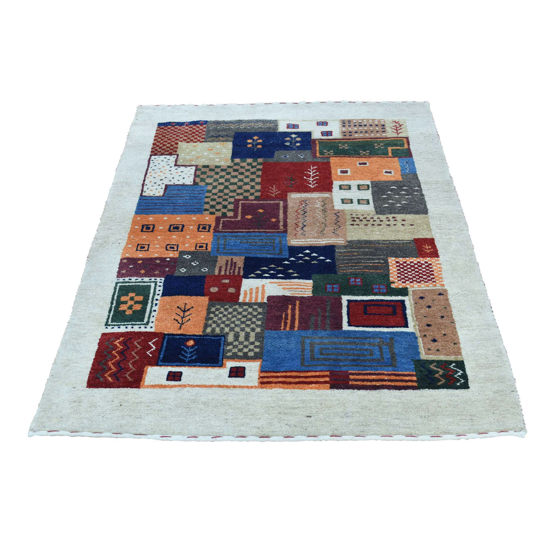 """2'x3'1"""" Hand-Knotted Lori Buft Gabbeh 100 Percent Wool Oriental Rug"""