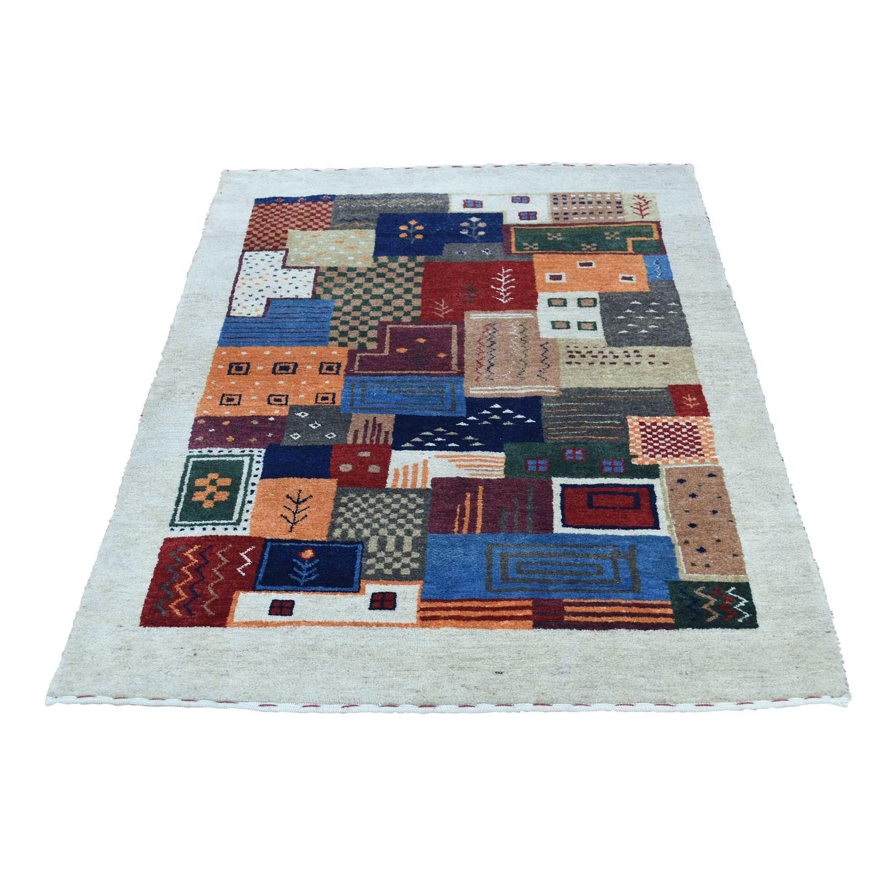 "2'X3'1"" Hand-Knotted Lori Buft Gabbeh 100 Percent Wool Oriental Rug moacdaa9"