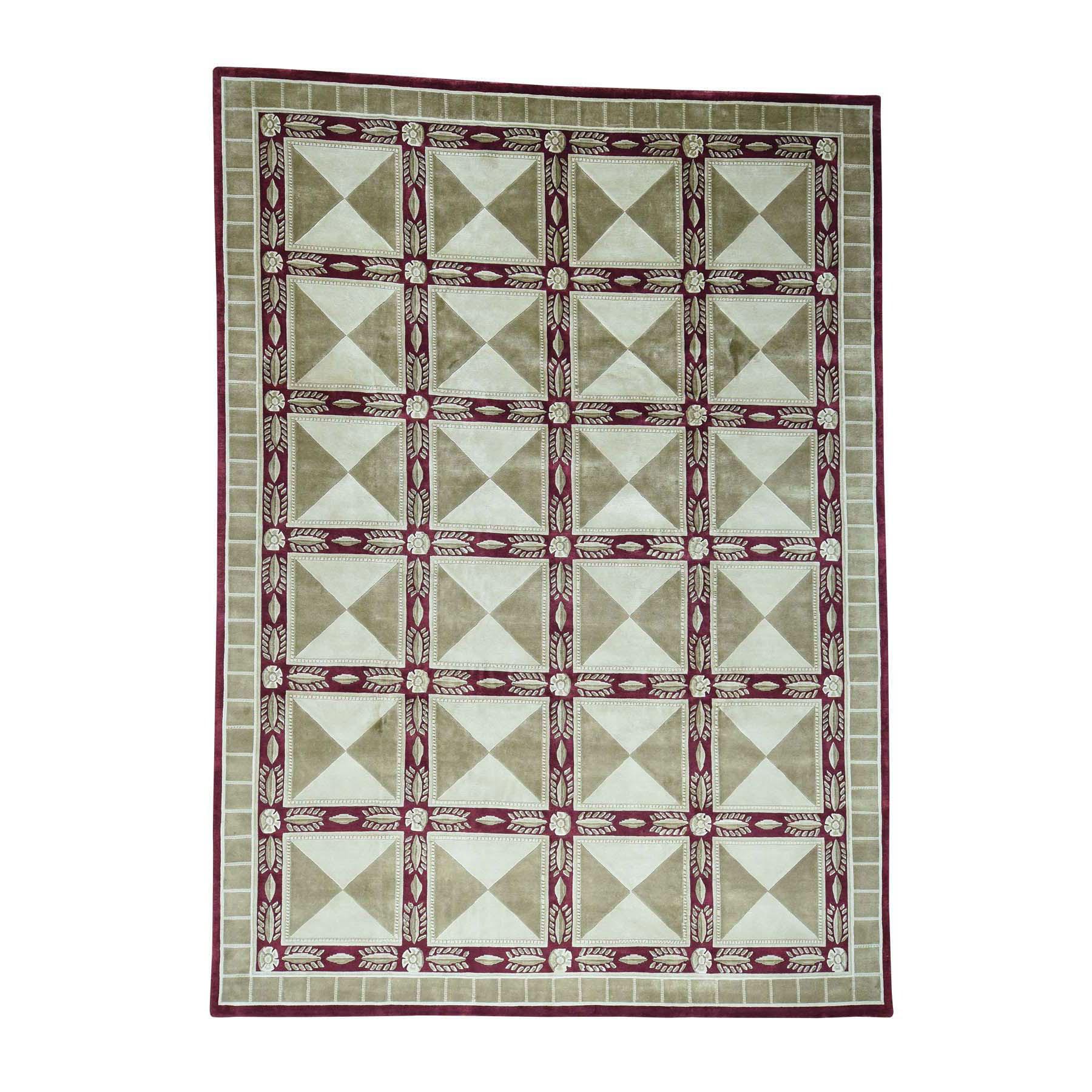 "10'x13'9"" Handmade Neo Classic Design Nepali Modern Oriental Rug"