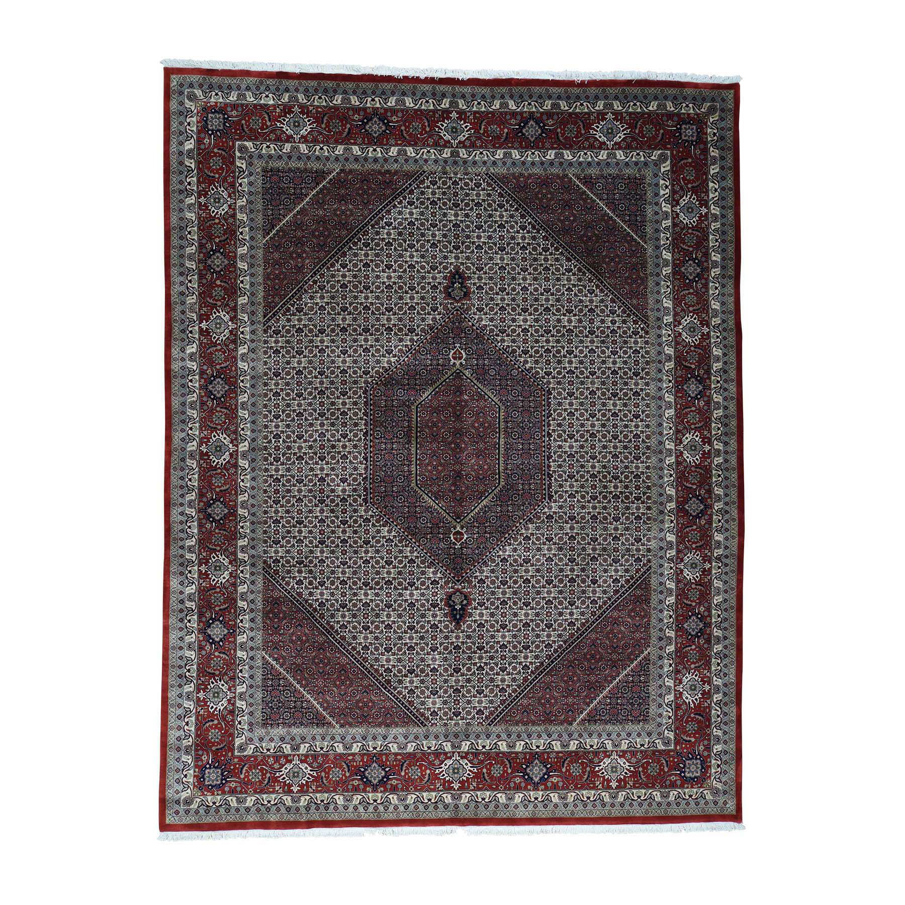 10'x13' New Zealand Wool and Silk Bijar 300 Kpsi Handmade Oriental Rug