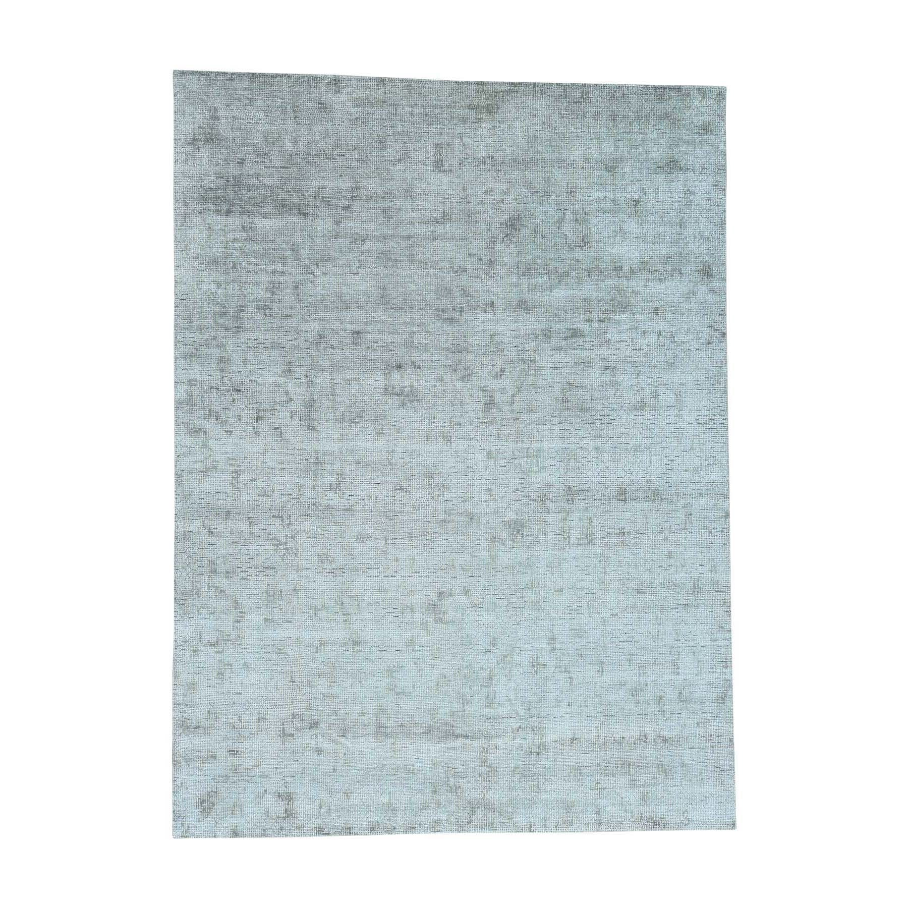 9'X12' Hand-Knotted Roman Mosaic Design Pure Silk With Textured Wool Rug moacdbdb