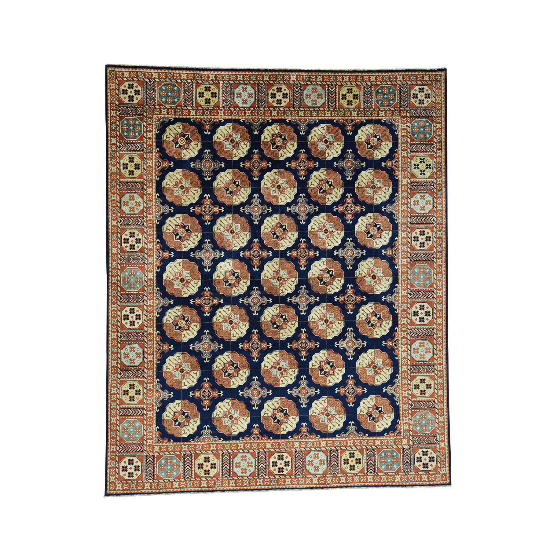 "8'3""x10'2"" Hand-Knotted Turkoman Ersari Pure Wool Oriental Rug"