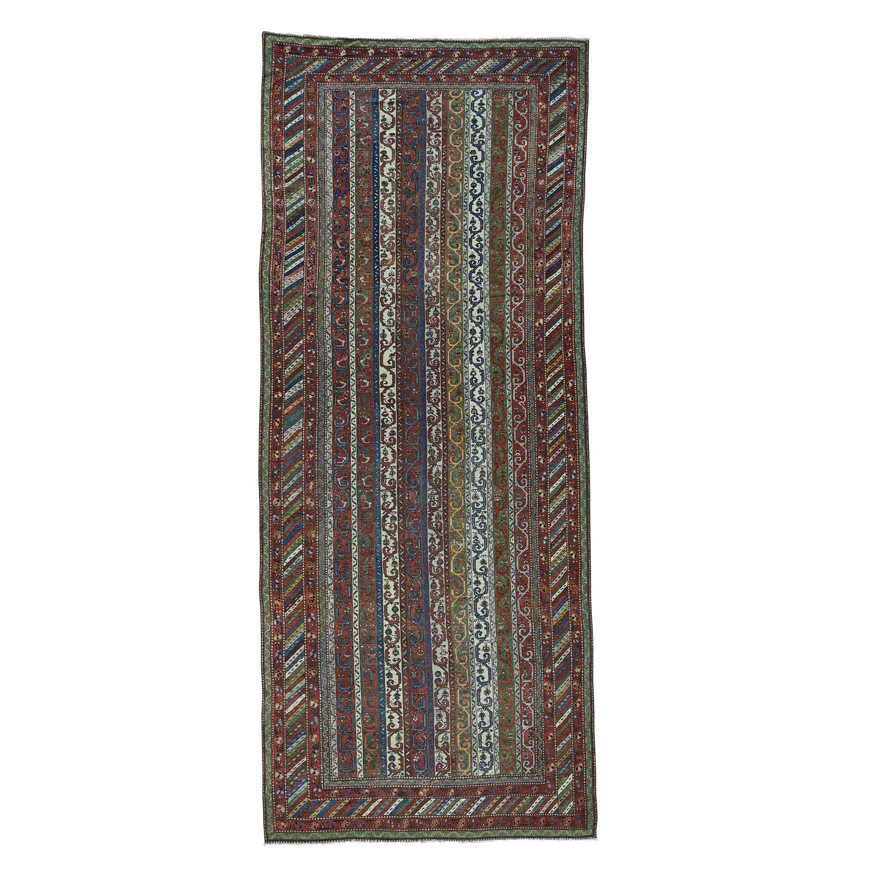 "6'5""X15'6"" Antique Northwest Persian With Shawl Design Wide Runner Rug moacddba"