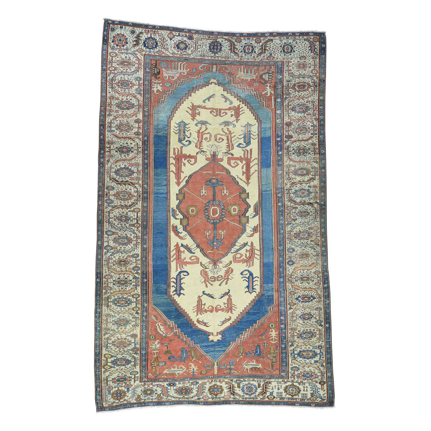 "8'4""X14' Original Antique Persian Bakshaish Good Cond Gallery Size Rug moacddb7"