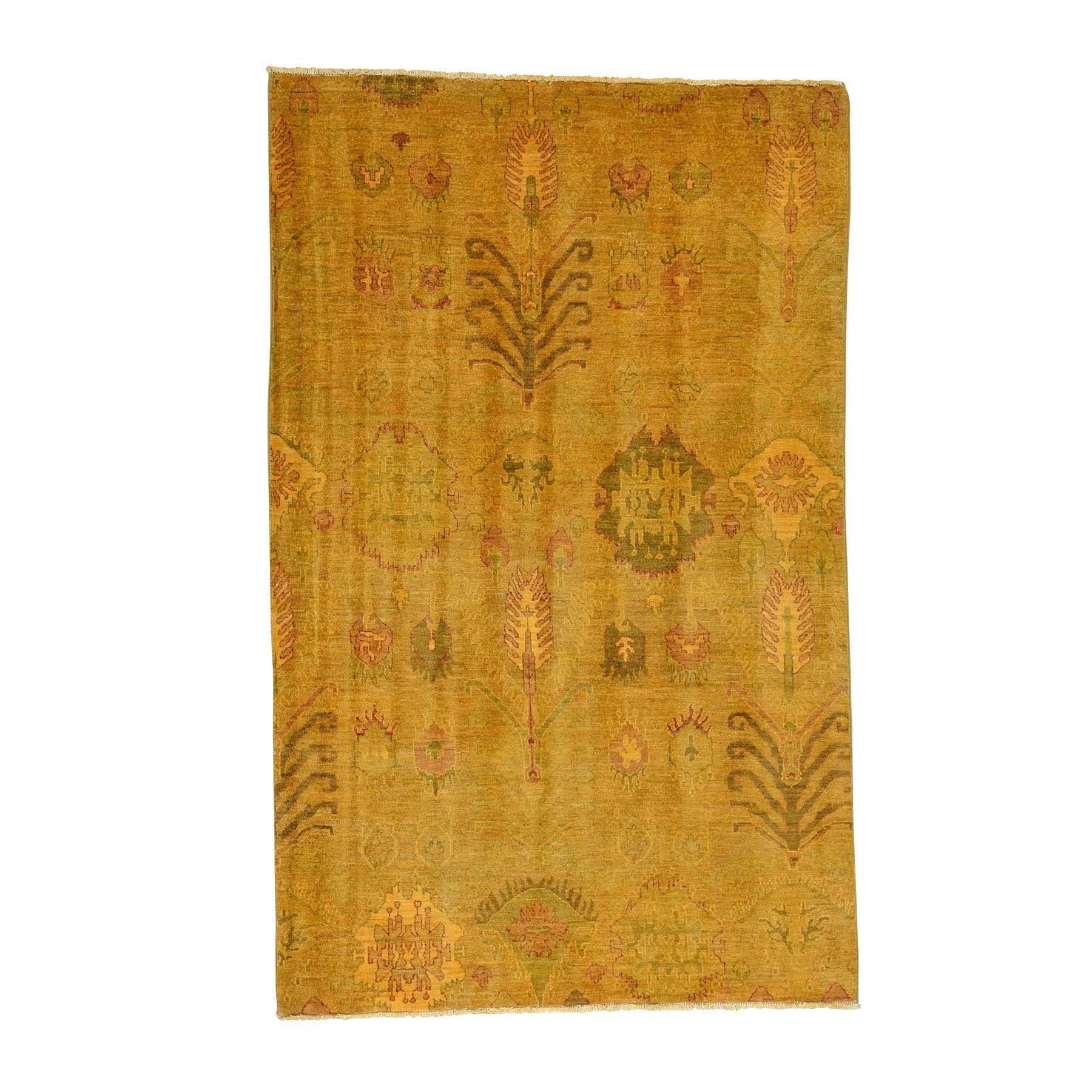 """5'2""""X8'3"""" Hand-Knotted Overdyed Ikat 100 Percent Wool Oriental Rug moacd67d"""