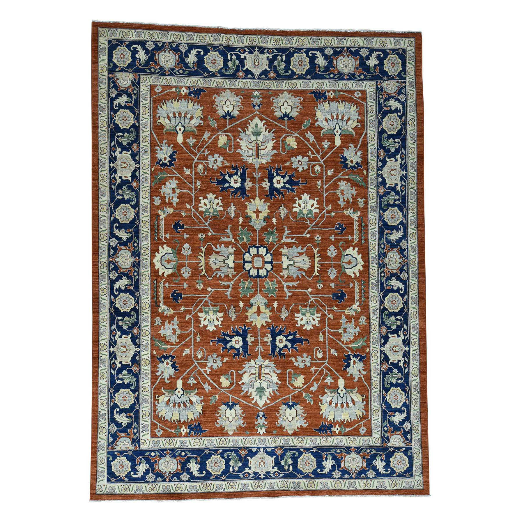 "10'X13'10"" Antiqued Heriz Hand-Knotted Pure Wool Oriental Rug moacd680"