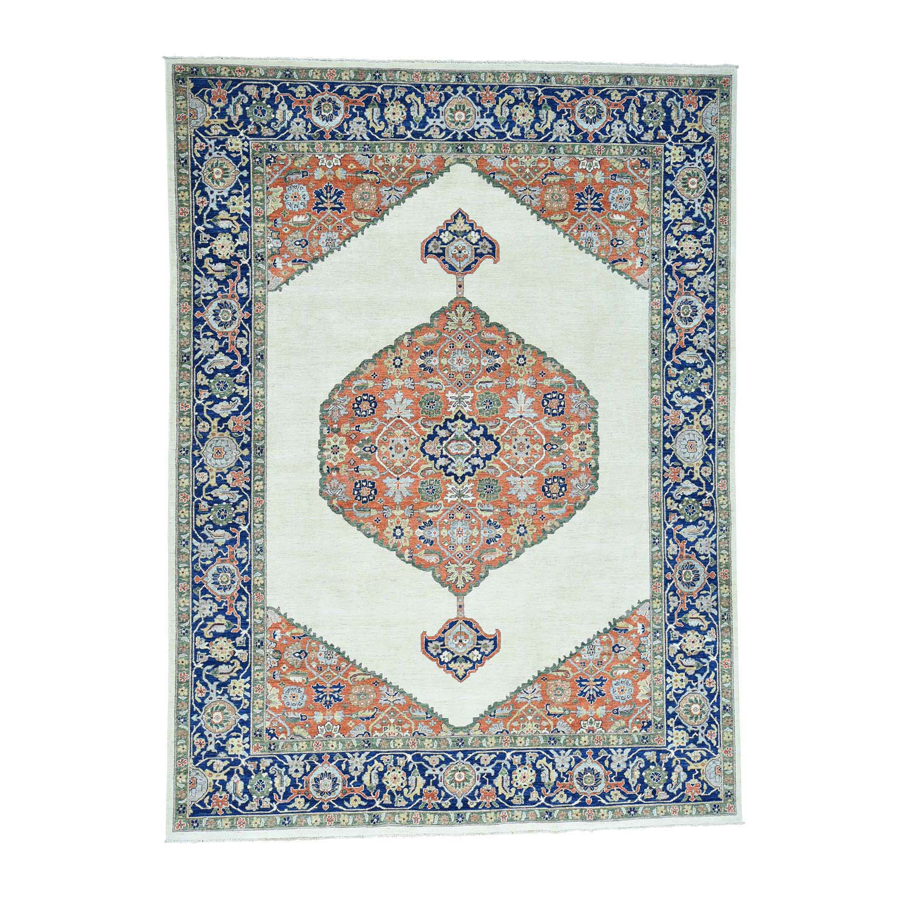 """10'3""""X14' Hand-Knotted Antiqued Bijar Pure Wool Oriental Rug moacd68a"""