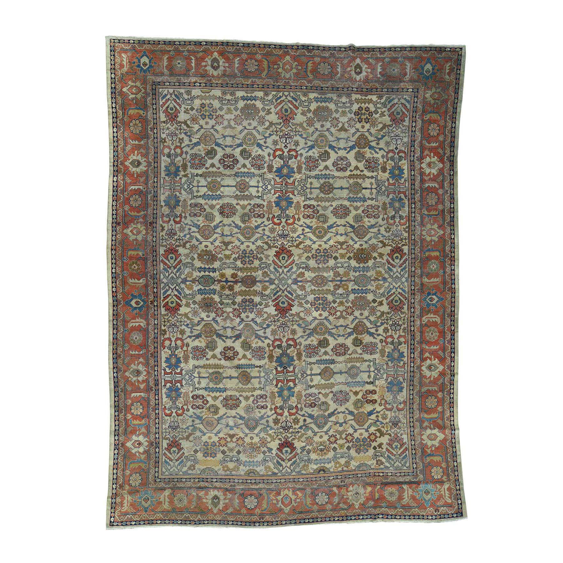 "11'X14'8"" Antique Persian Sultanabad Oversize Even Wear Oriental Rug moacd79a"