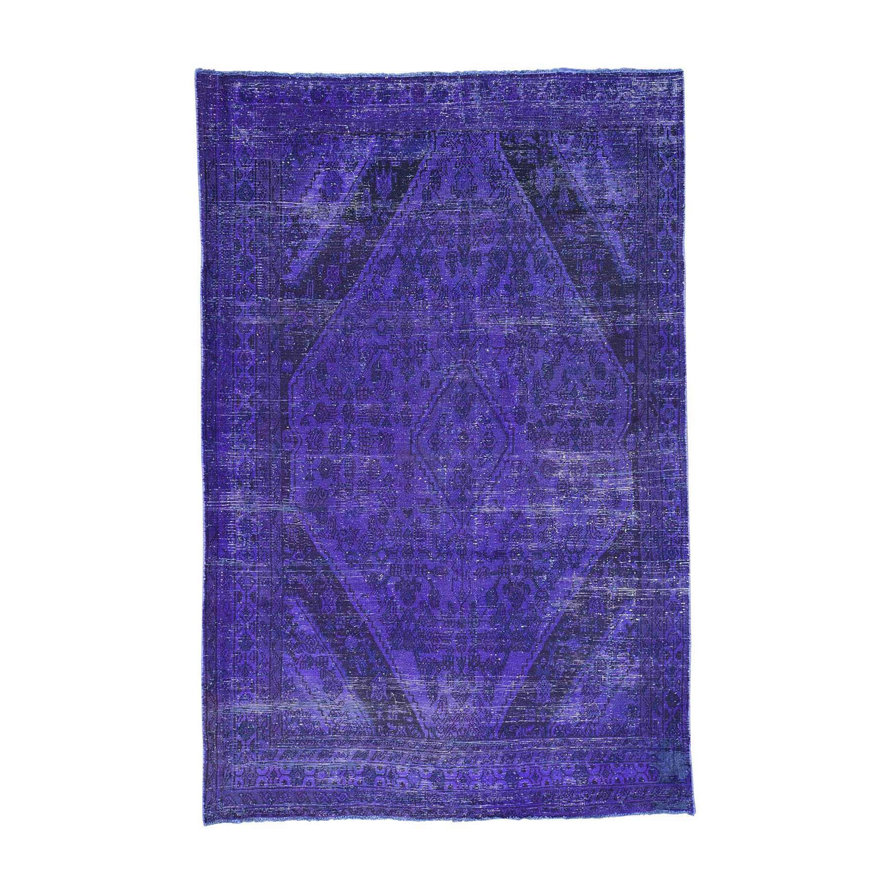 "6'5""X9'10"" Handmade Pure Wool Overdyed Persian Bibikabad Vintage Rug moacd8b7"