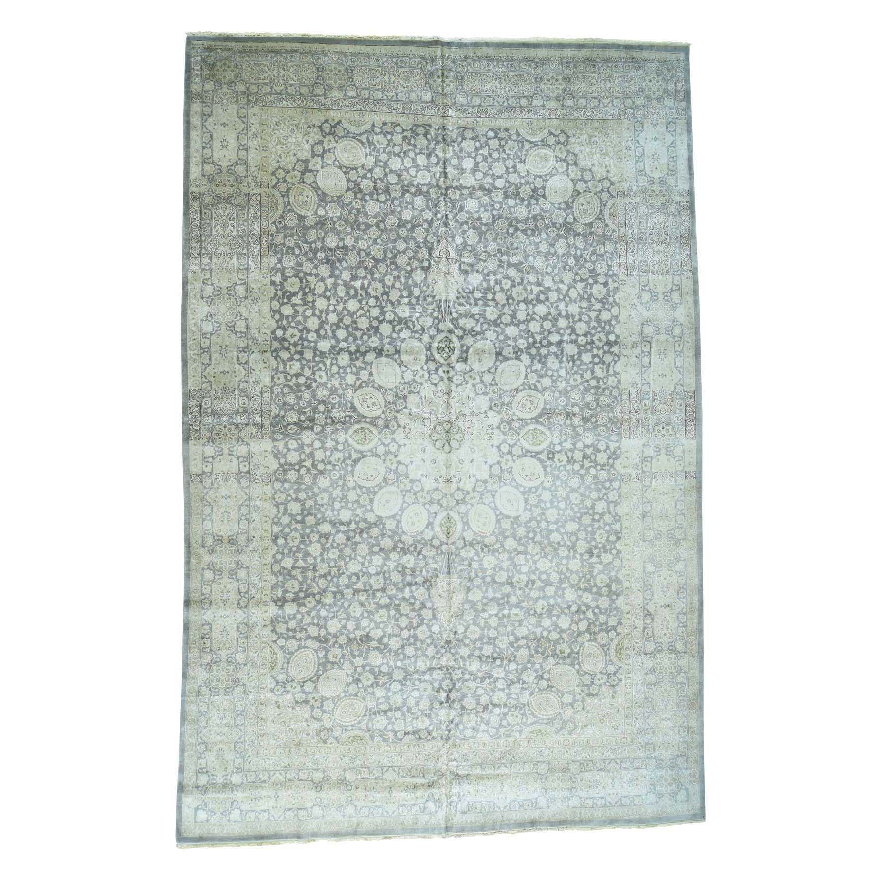 """13'X19'4"""" Hand-Knotted Persian Tabriz Sheikh Safi Design Oversize Rug moacd8d0"""