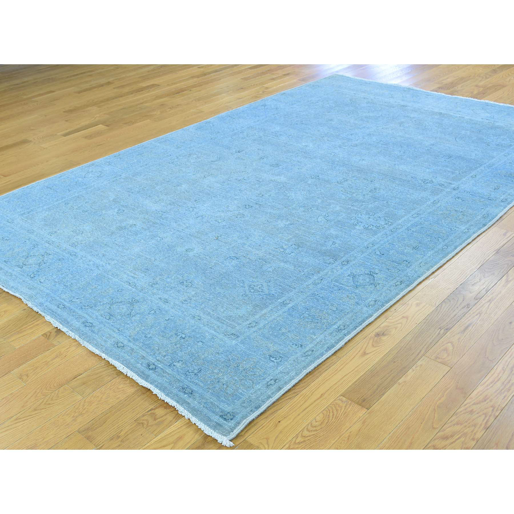 5-10 x9-2  Hand-Knotted Peshawar Overdyed Pure Wool Oriental Rug