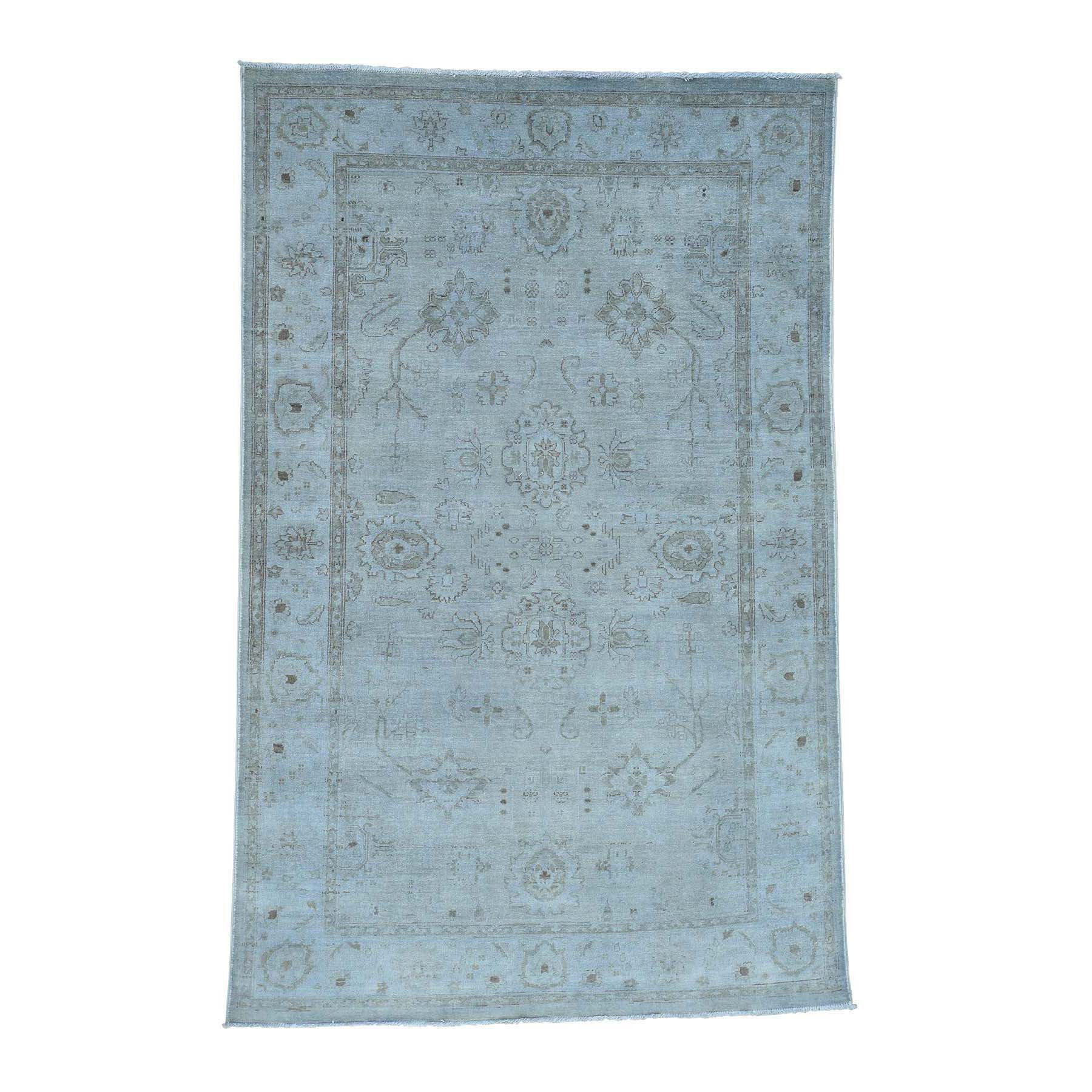 """5'10""""X8'9"""" Silver Wash Peshawar Hand Knotted Pure Wool Oriental Rug moace0bd"""