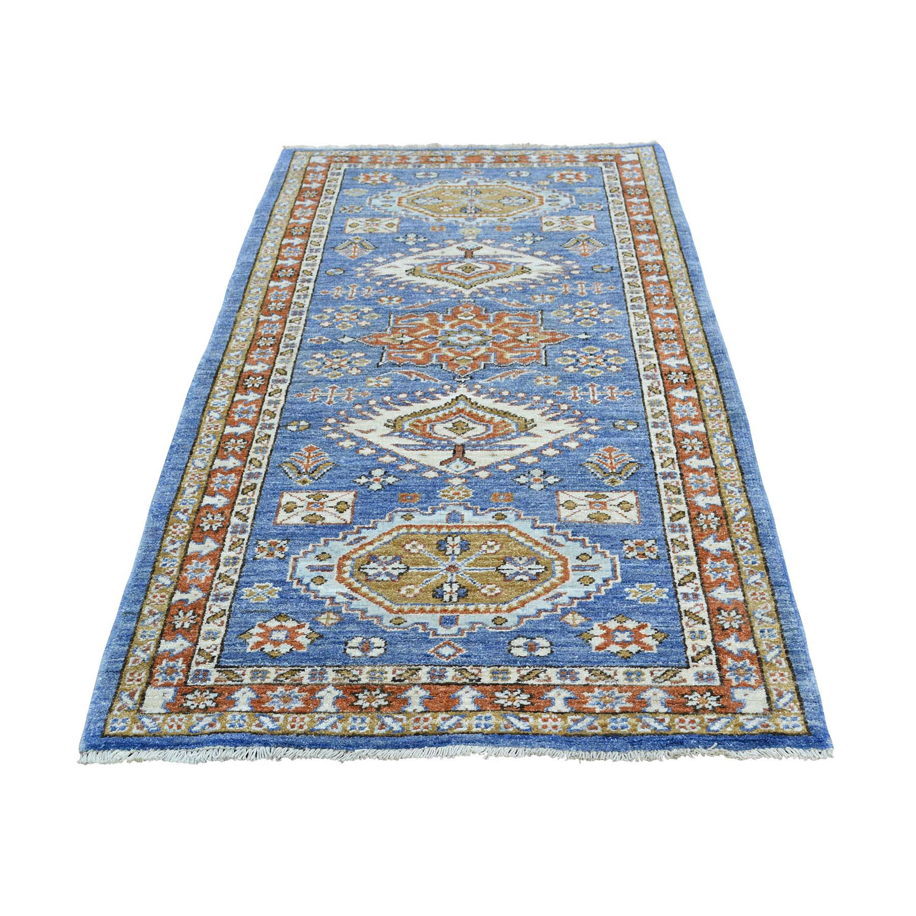 "2'9""x5'10"" Hand-Knotted Peshawar with Karajeh Design Oriental Runner Rug"