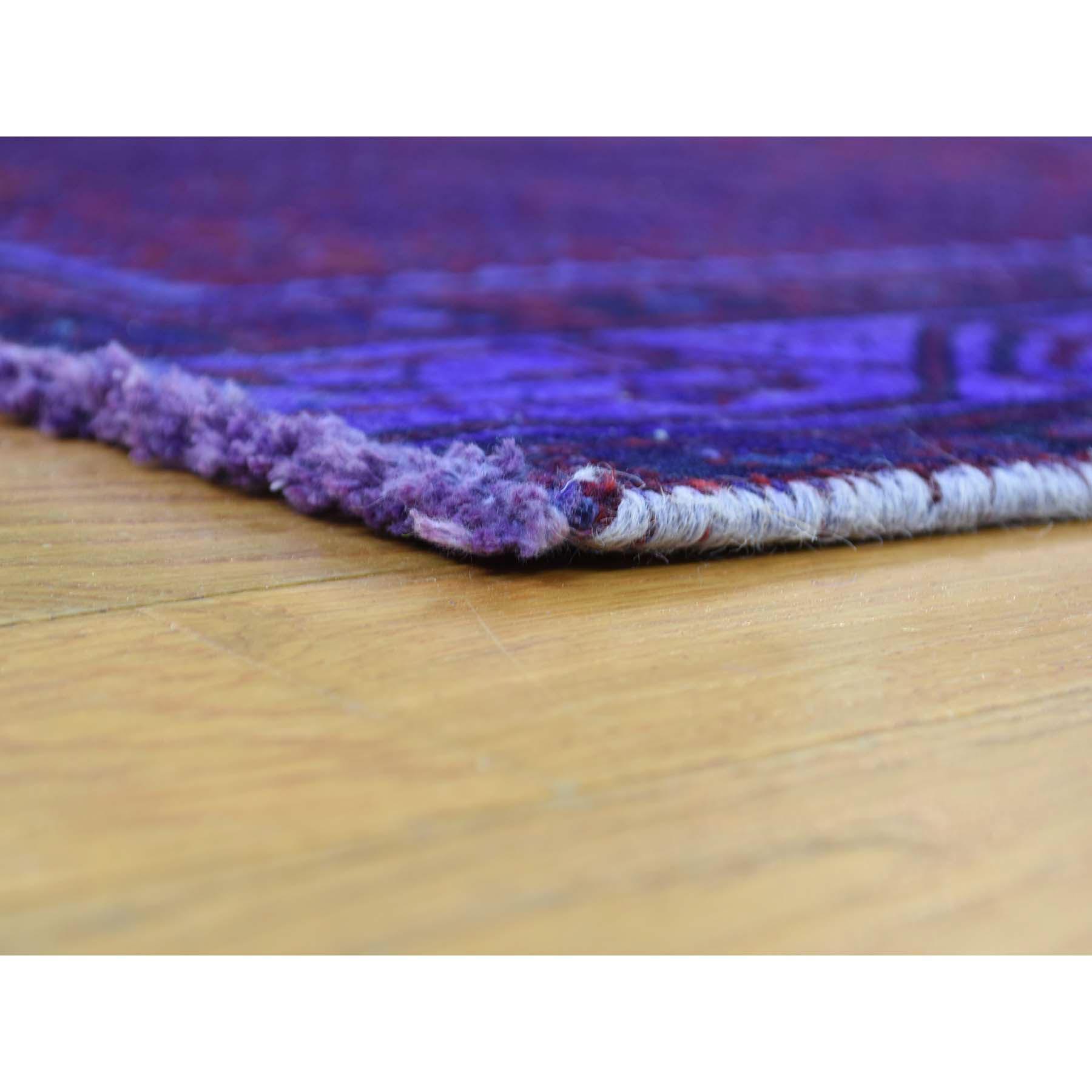 3-8 x9-2  Handmade Overdyed Persian Sarouk Mir Vintage Wide Runner Rug
