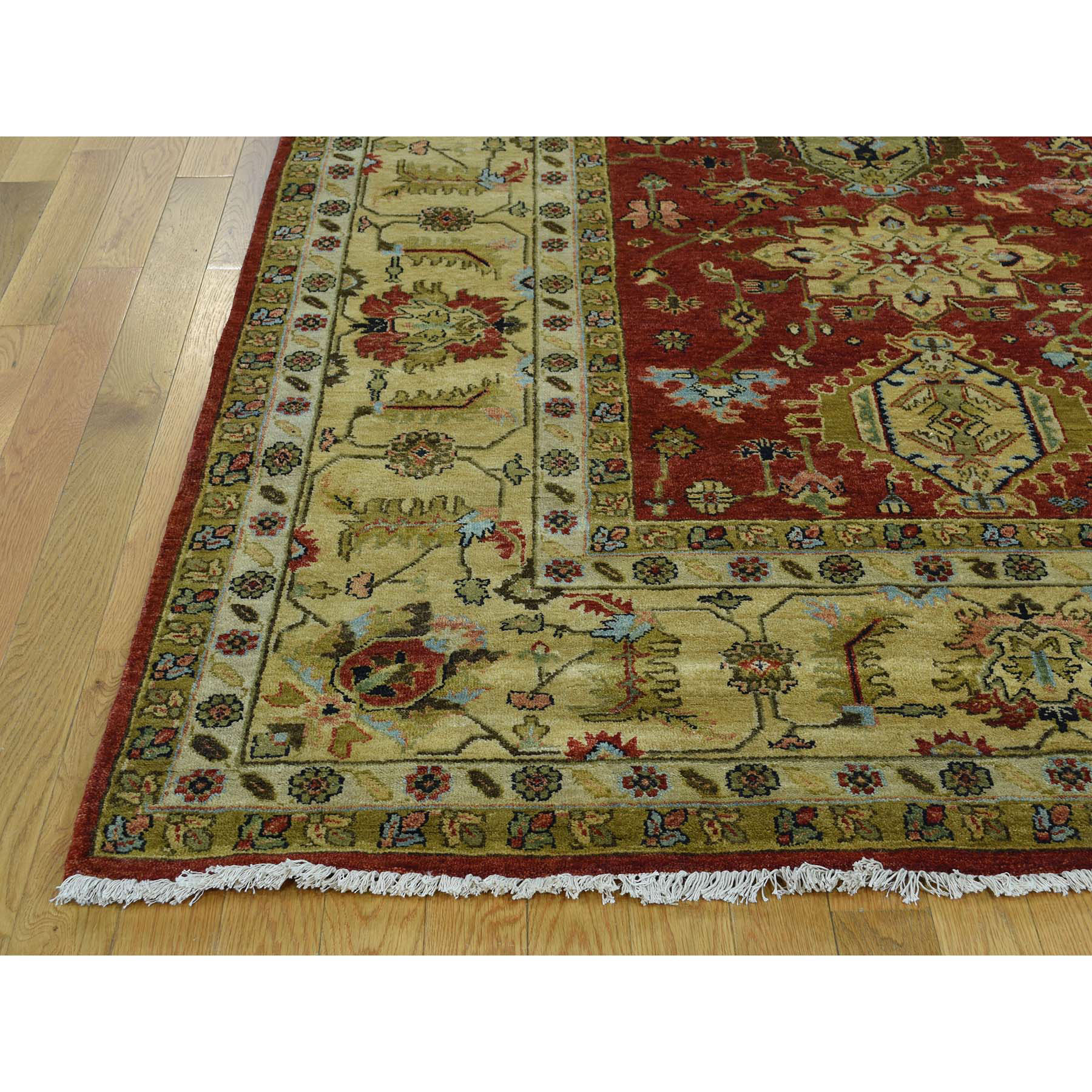 9-10 x 14- Hand-Knotted 100 Percent Wool Karajeh Oriental Rug