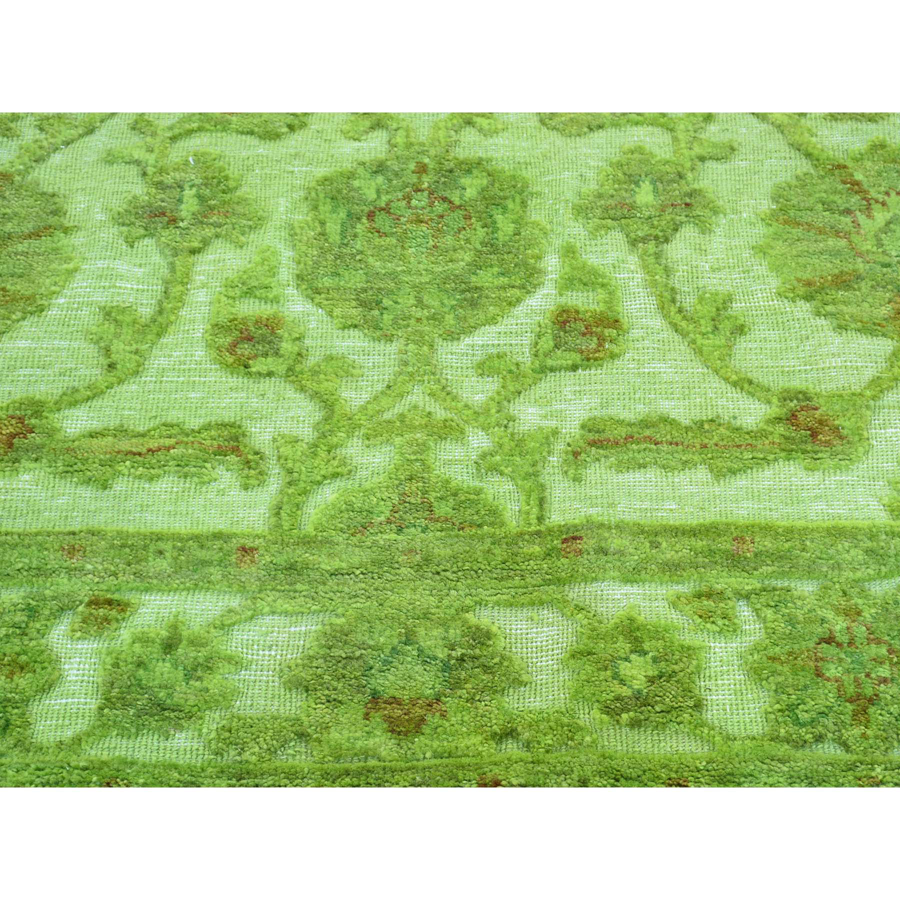 4-2 x6-2  Hand-Knotted Overdyed Hi and Low Pile Pure Wool Oriental Rug