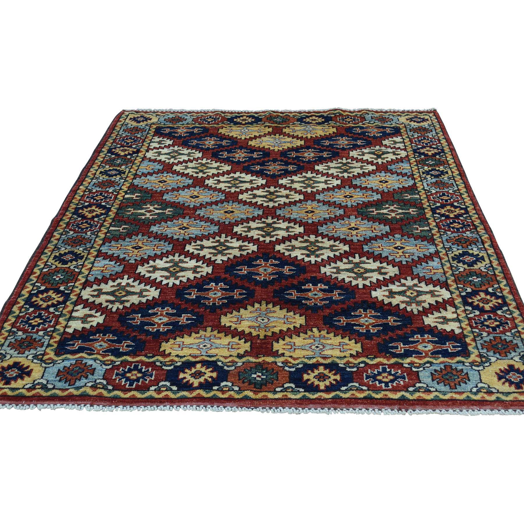 4'X6' Hand Knotted Turkoman Ersari 100 Percent Wool Oriental Rug moaceedc