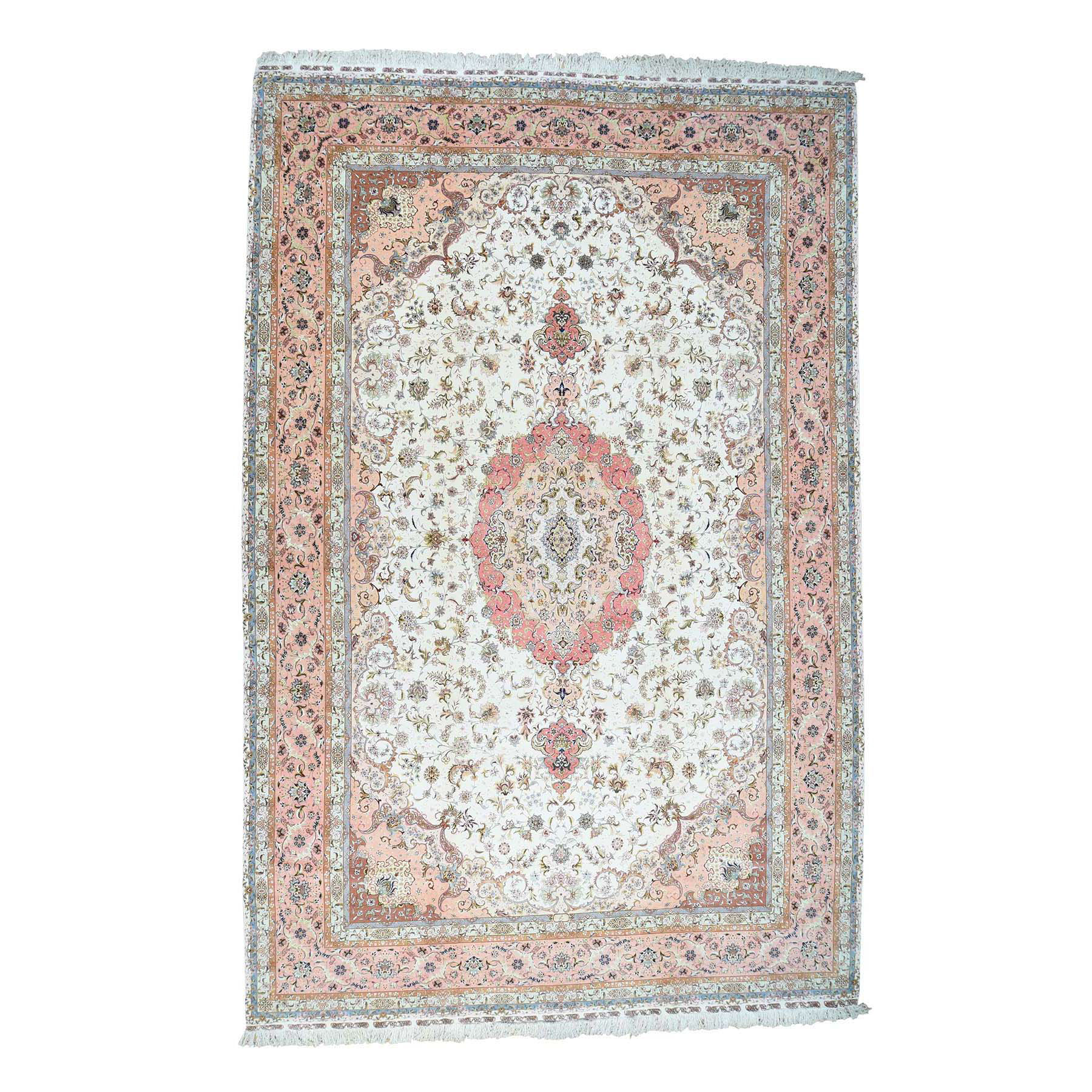 "13'X19'9"" Hand-Knotted Persian Tabriz 400 Kpsi Mansion Size Oriental Rug moaceed6"