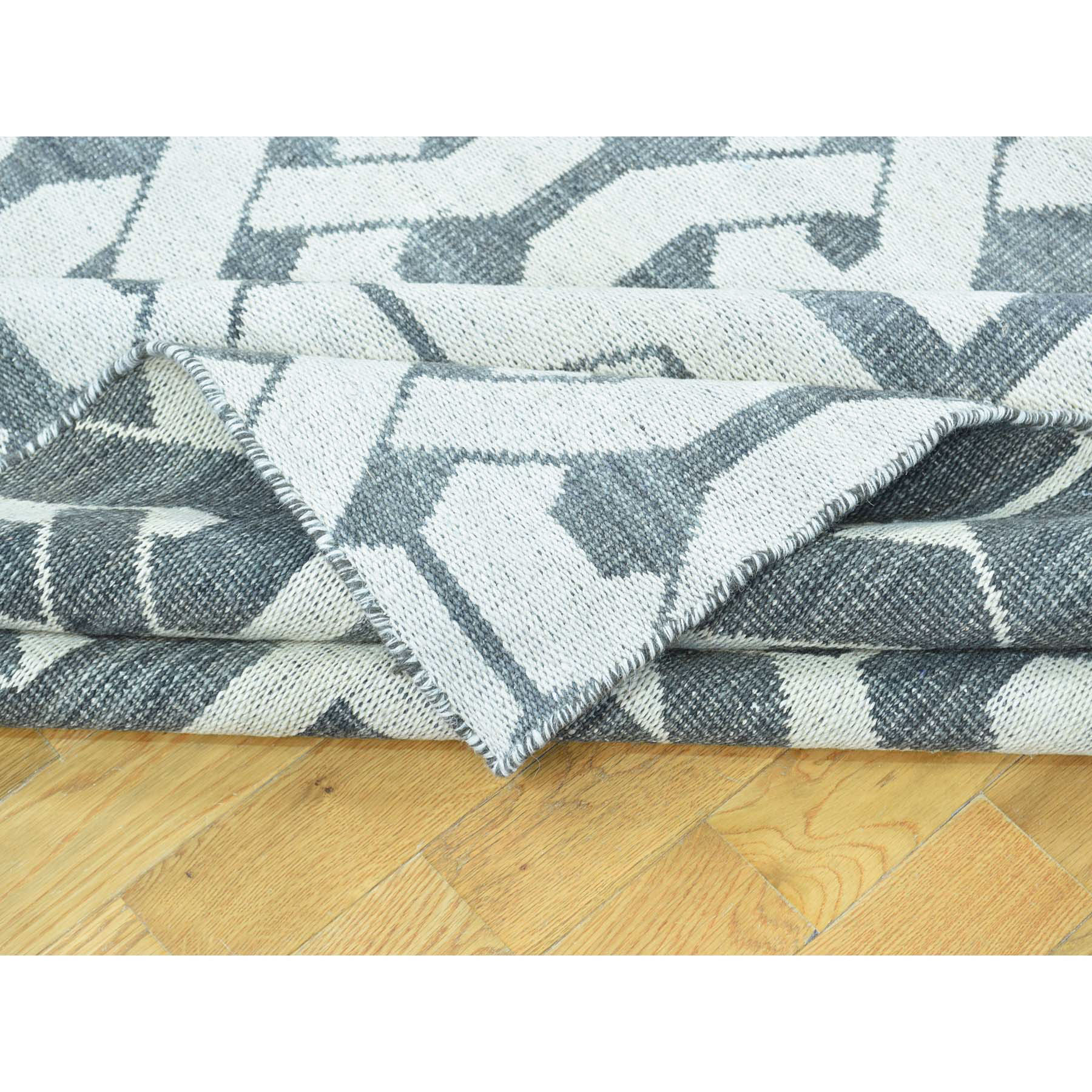 10-x13-10  Hand Woven Flat Weave Durie Kilim Reversible Oriental Rug