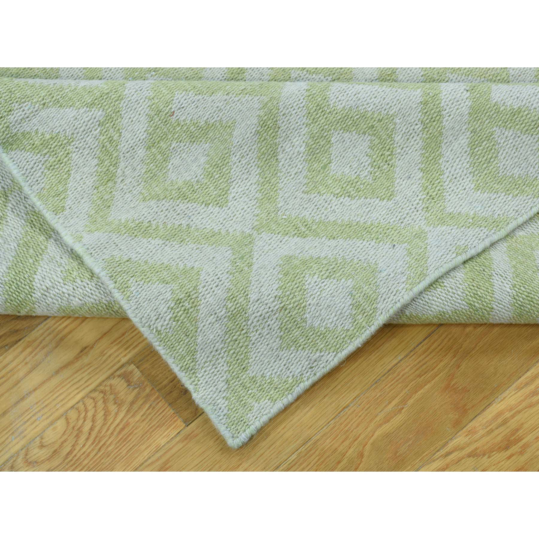 6-x6-3  Flat Weave Hand Woven Durie Kilim Reversible Square Rug