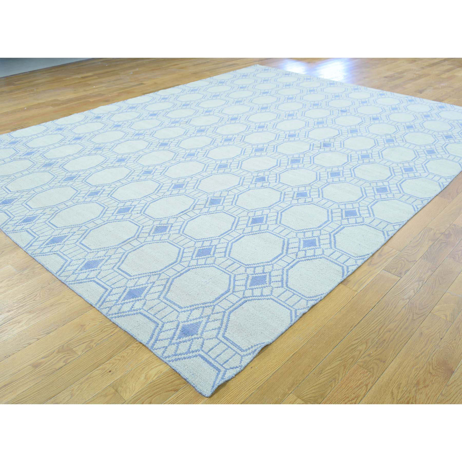 9-x11-7  Flat Weave Hand Woven Durie Kilim Reversible Oriental Rug