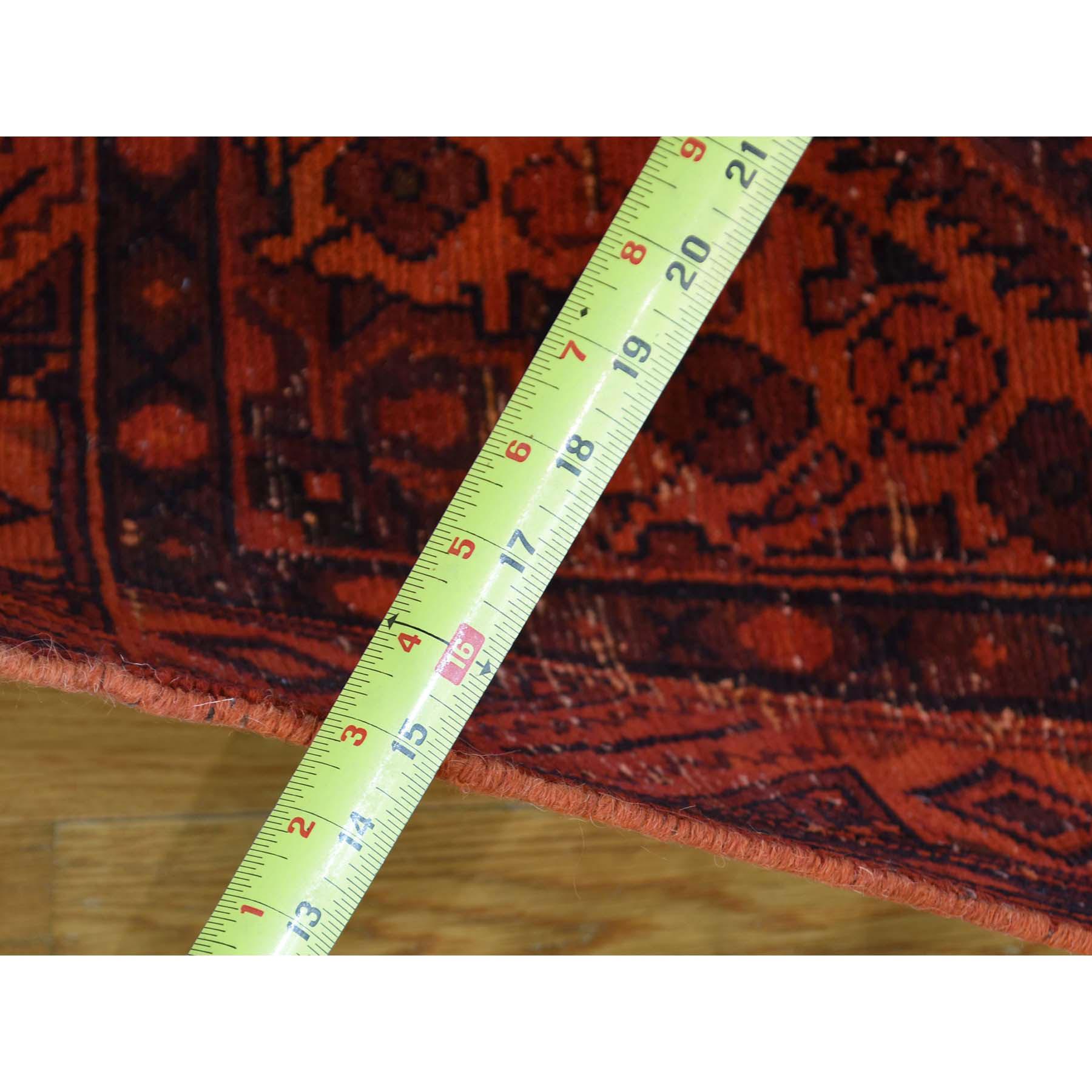 5-x9-5  Handmade Overdyed Persian Hussainabad Vintage Wide Runner Rug