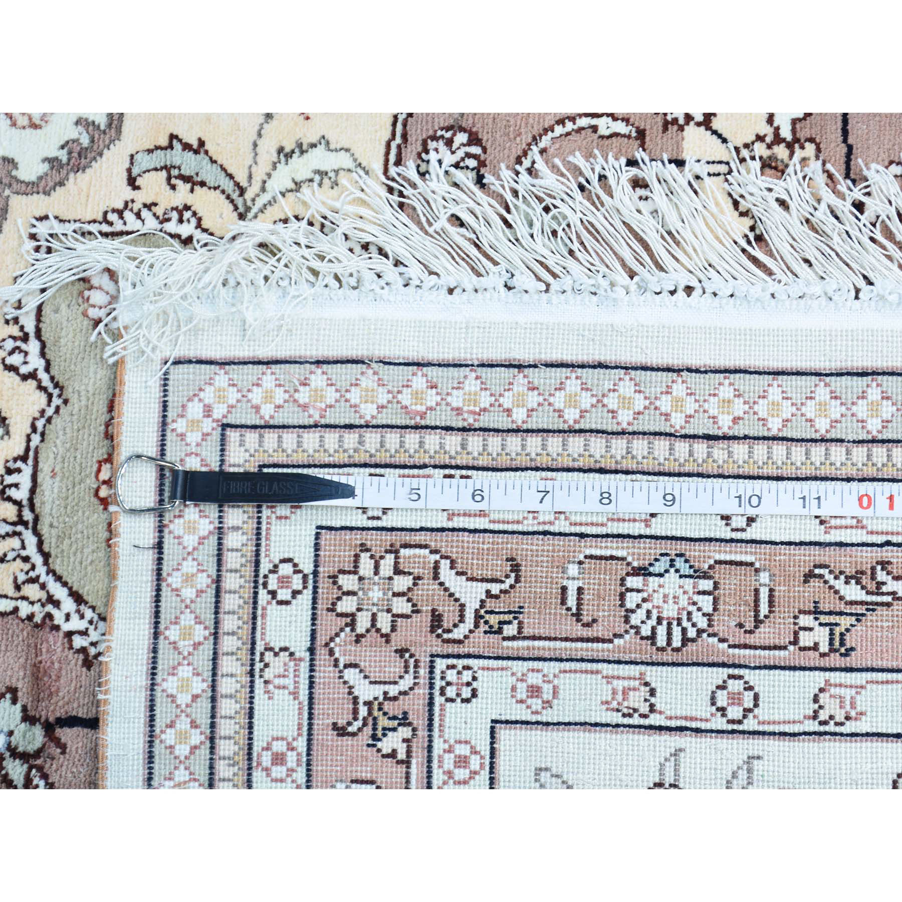 12-x18-4  Hand Knotted Red Silken Tabriz 250 kspi Oversize Oriental Rug