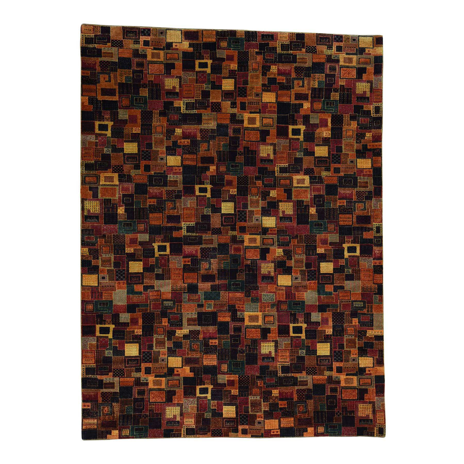 "8'4""X11'3"" Gabbeh Lori Buft Dense Weave New Zealand Wool Patch Design Rug moace9ce"